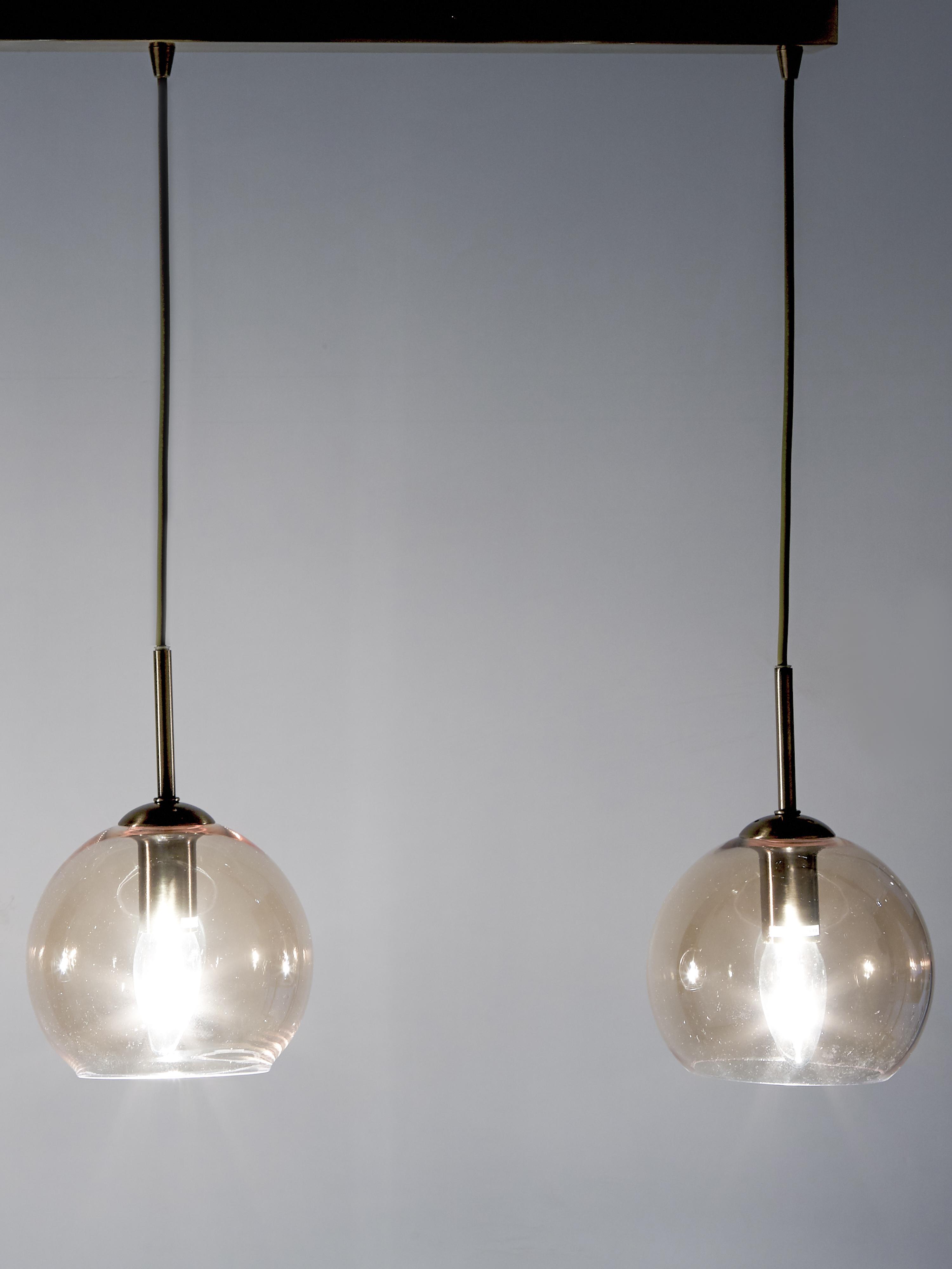 Lampa wisząca Hamilton, Odcienie bursztynowego, S 81 x G 15 cm