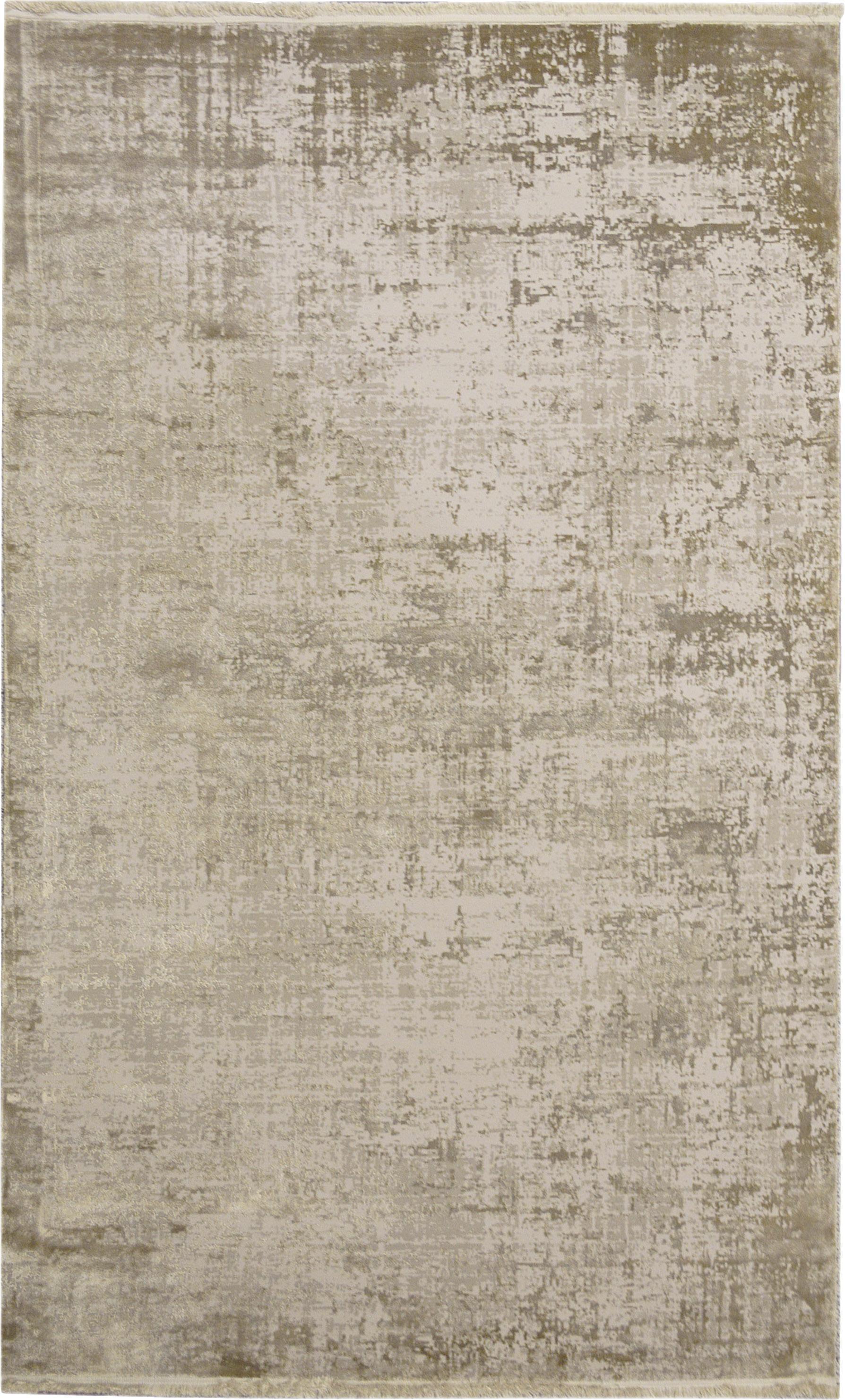 Alfombra con flecos Cordoba, estilo vintage, Parte superior: 70%acrílico, 30%viscosa, Reverso: algodón, Tonos beige, An 200 x L 290 cm (Tamaño L)