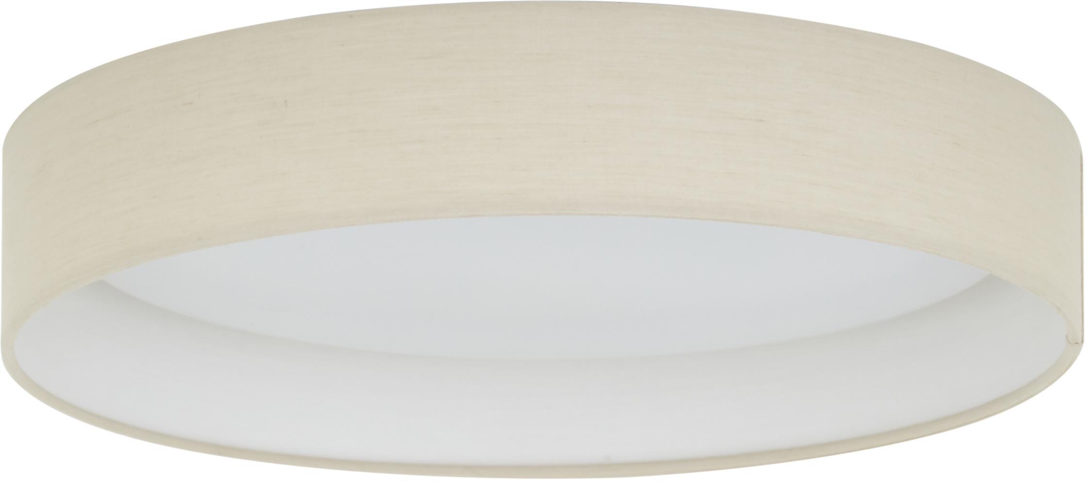 LED-Deckenleuchte Helen, Rahmen: Metall, Diffusorscheibe: Kunststoff, Taupe, Ø 35 x H 7 cm
