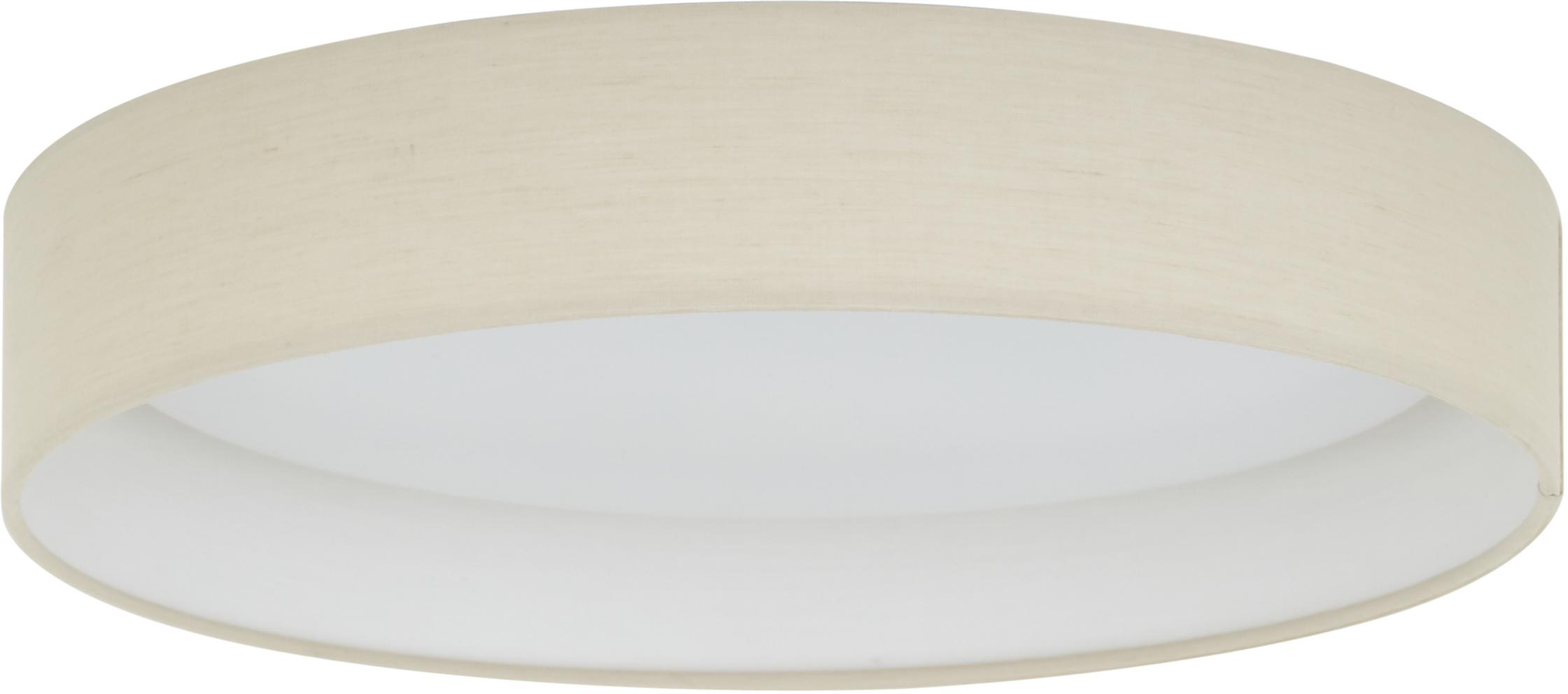 Plafón LED Helen, Gris pardo, Ø 35 x Al 7 cm