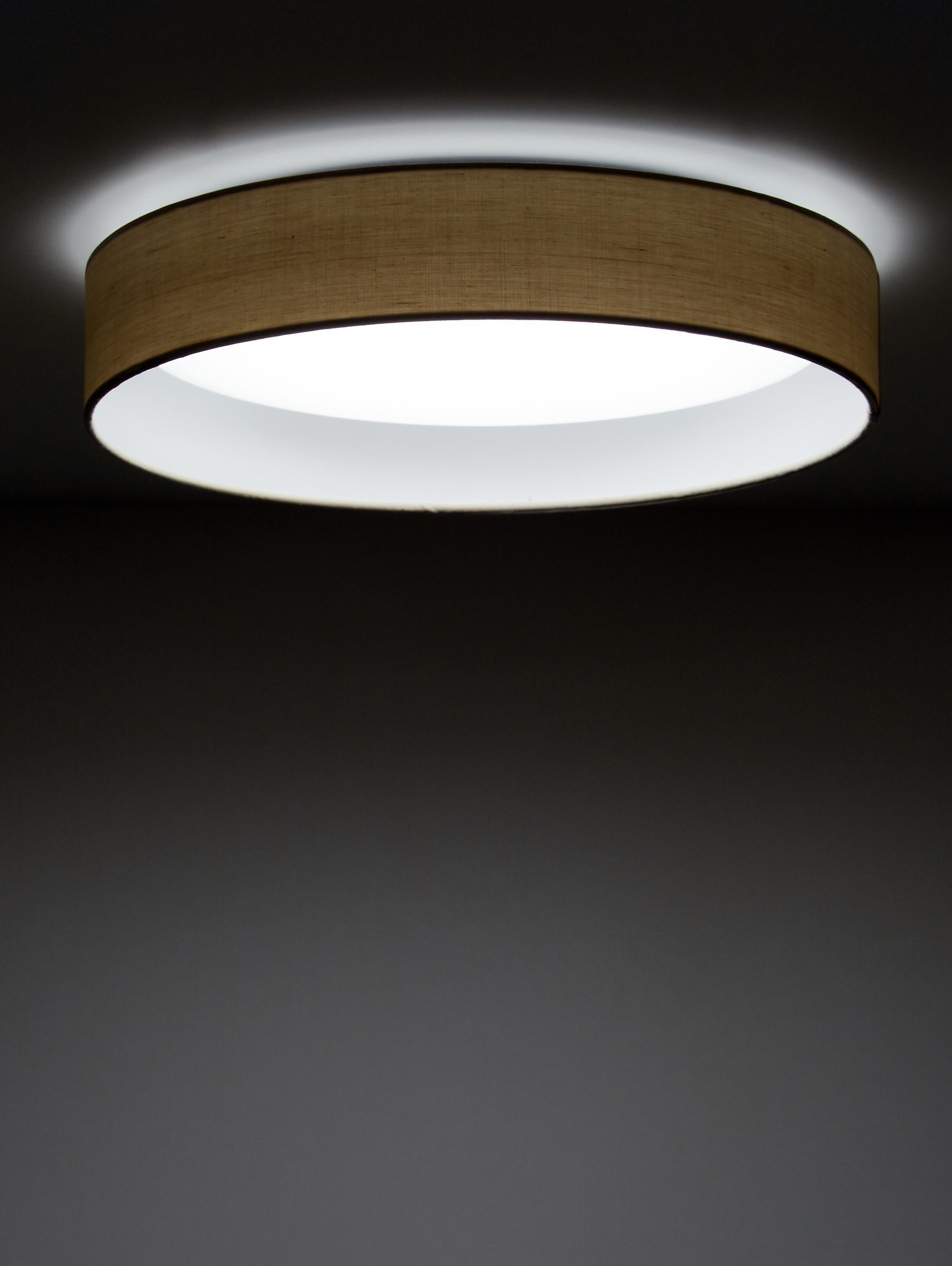LED-Deckenleuchte Helen, Rahmen: Metall, Diffusorscheibe: Kunststoff, Taupe, Ø 52 x H 11 cm