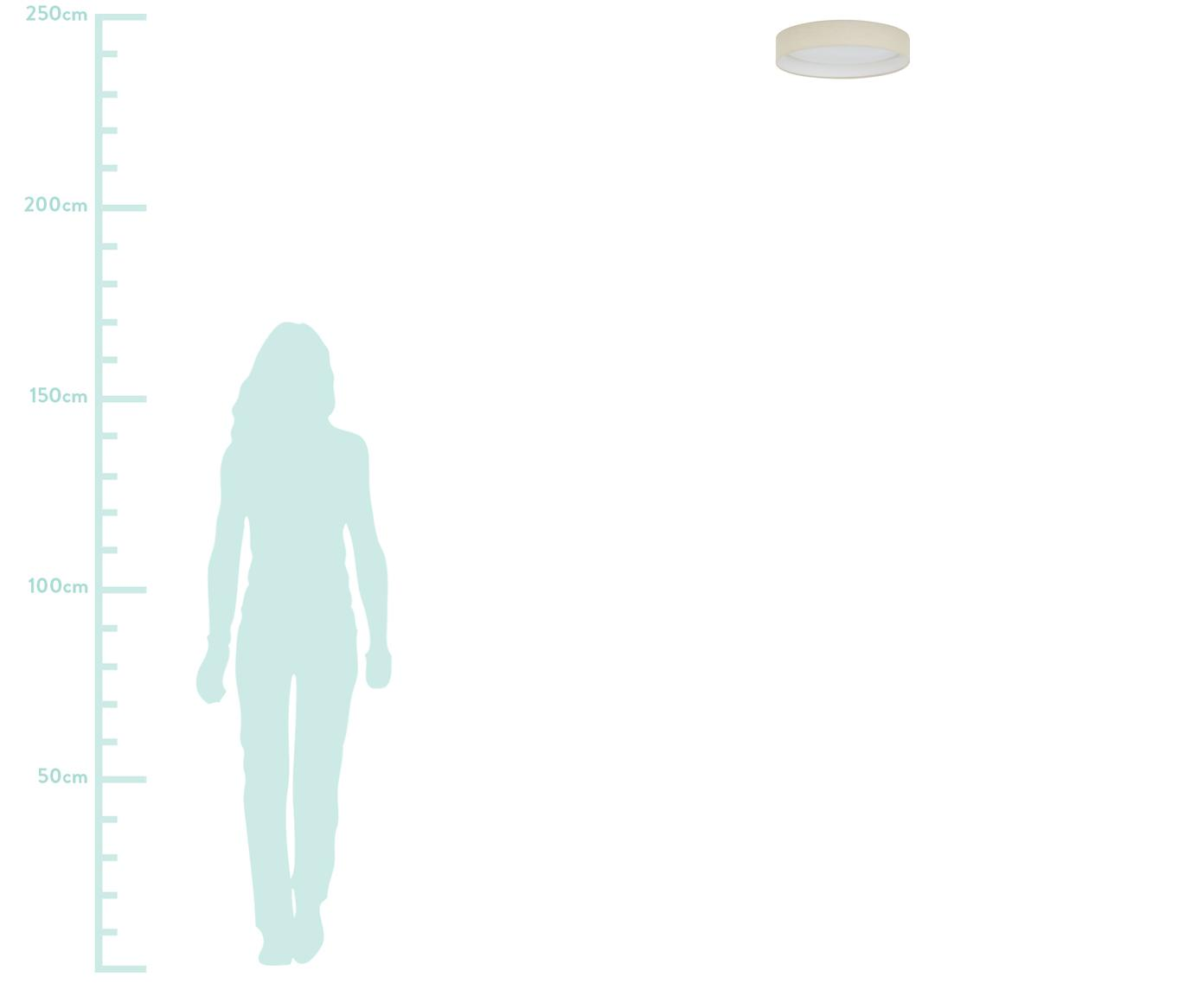 Plafoniera a LED Helen, Struttura: metallo, Taupe, Ø 35 x Alt. 7 cm