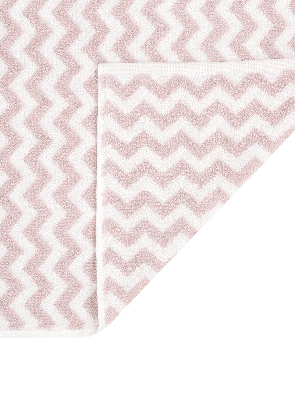 Handtuch Liv in verschiedenen Größen, mit Zickzack-Muster, Rosa, Handtuch