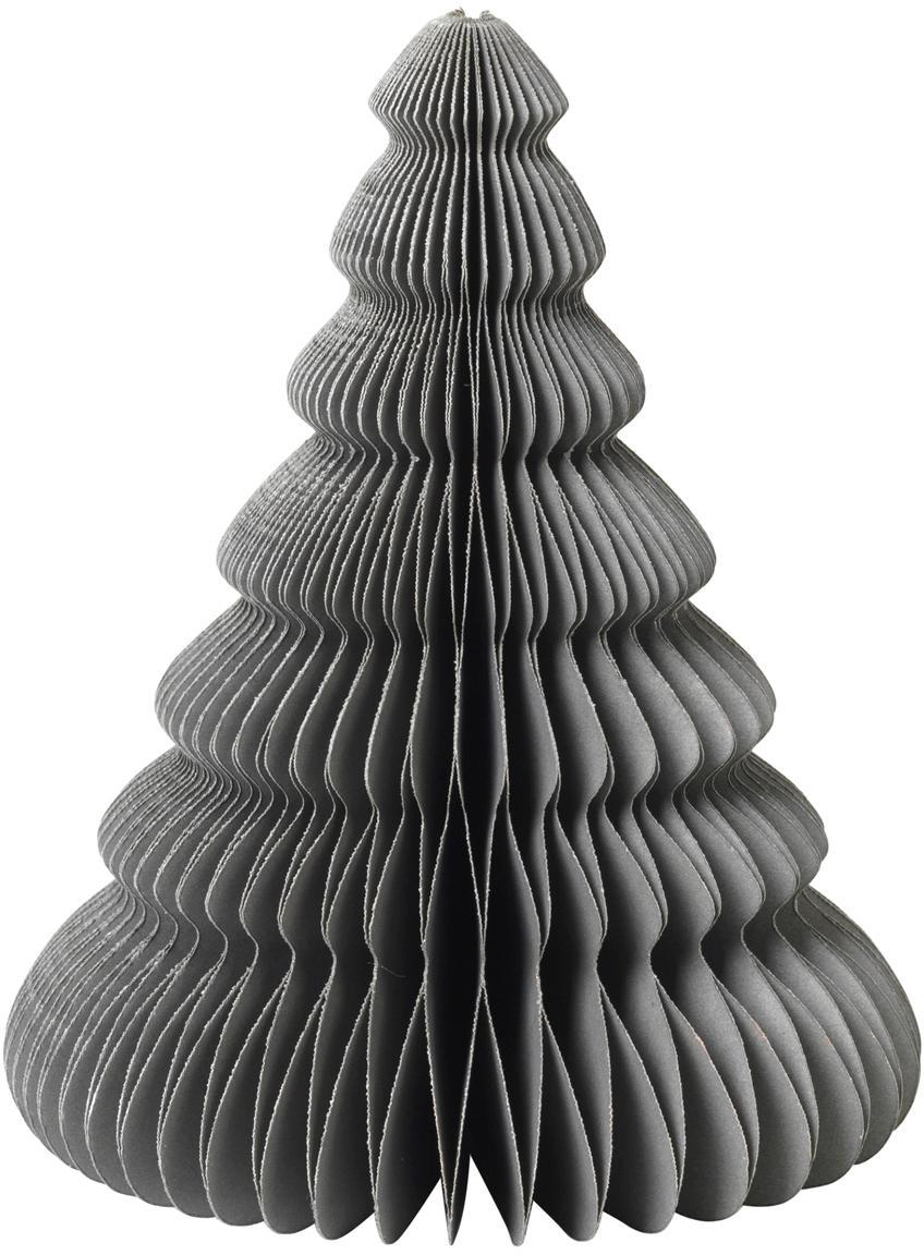 Pieza decorativa Paper Pine, Papel, Verde oscuro, Ø 13 x Al 15 cm