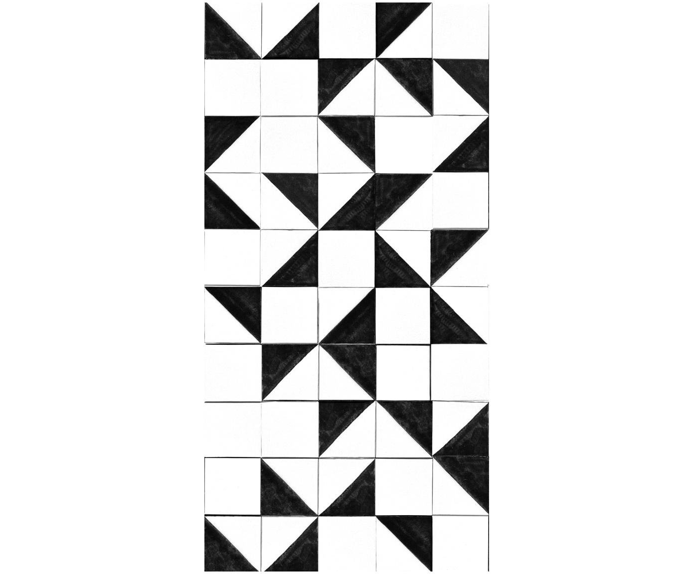 Adesivo murale Black and White, Vello, Nero, bianco, L 150 x A 300 cm