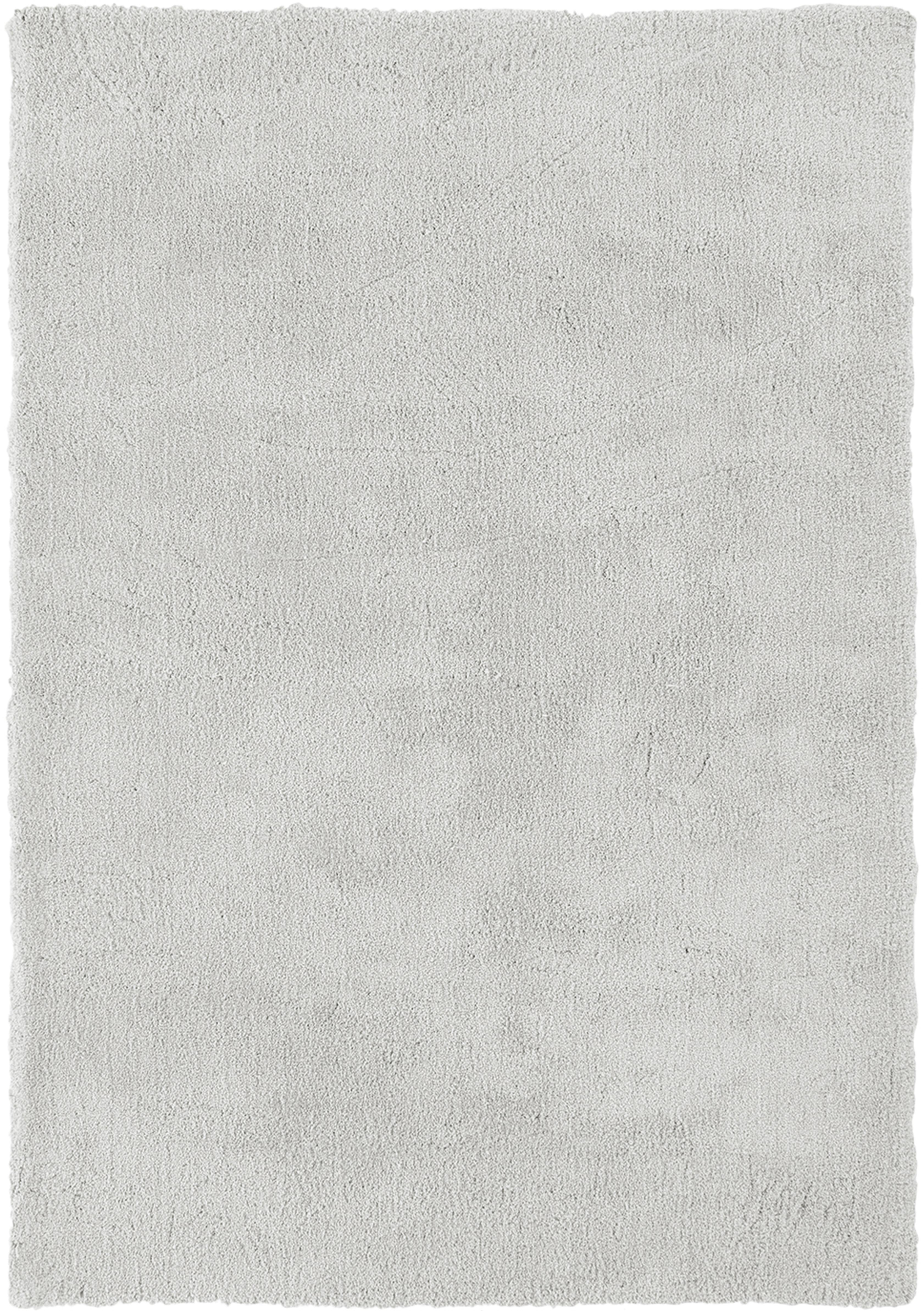 Tappeto peloso morbido grigio chiaro Leighton, Retro: 70% poliestere, 30% coton, Grigio chiaro, Larg.160 x Lung. 230 cm  (taglia M)