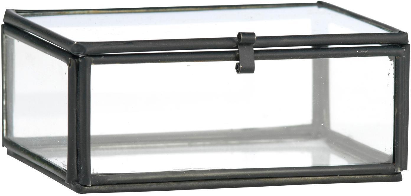 Aufbewahrungsbox Ivey, Rahmen: Metall, beschichtet, Schwarz, 9 x 4 cm