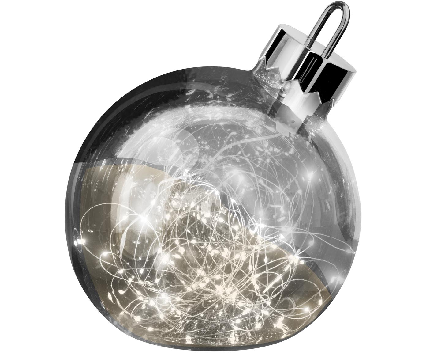 LED lichtobject Aggia, Chroomkleurig, Ø 20 x H 22 cm