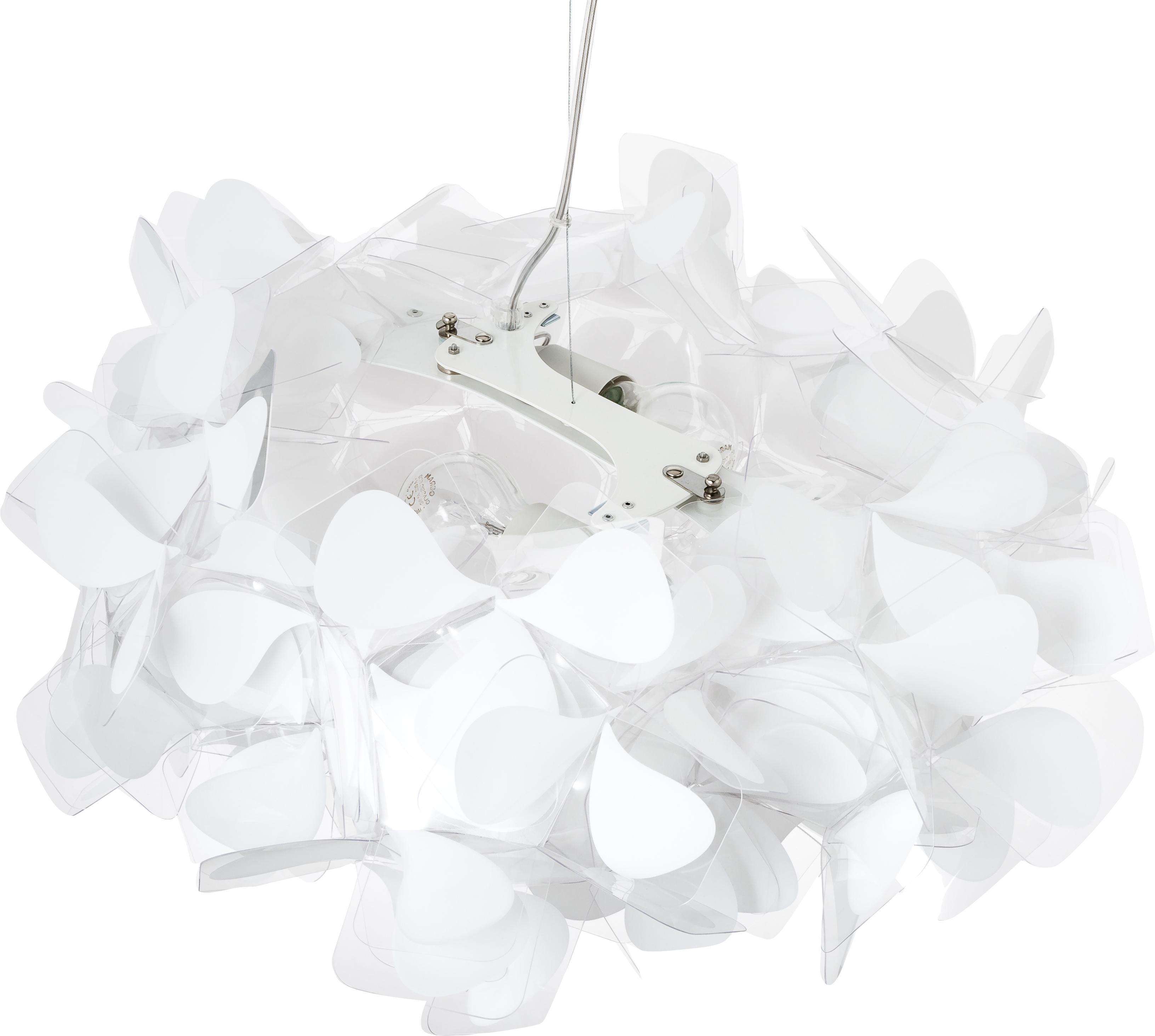 Design-Pendelleuchte Clizia Mama Non Mama, Lampenschirm: Technopolymer Opalflex®, , Baldachin: Metall, beschichtet, Transparent, Weiß, Ø 53 x H 25 cm