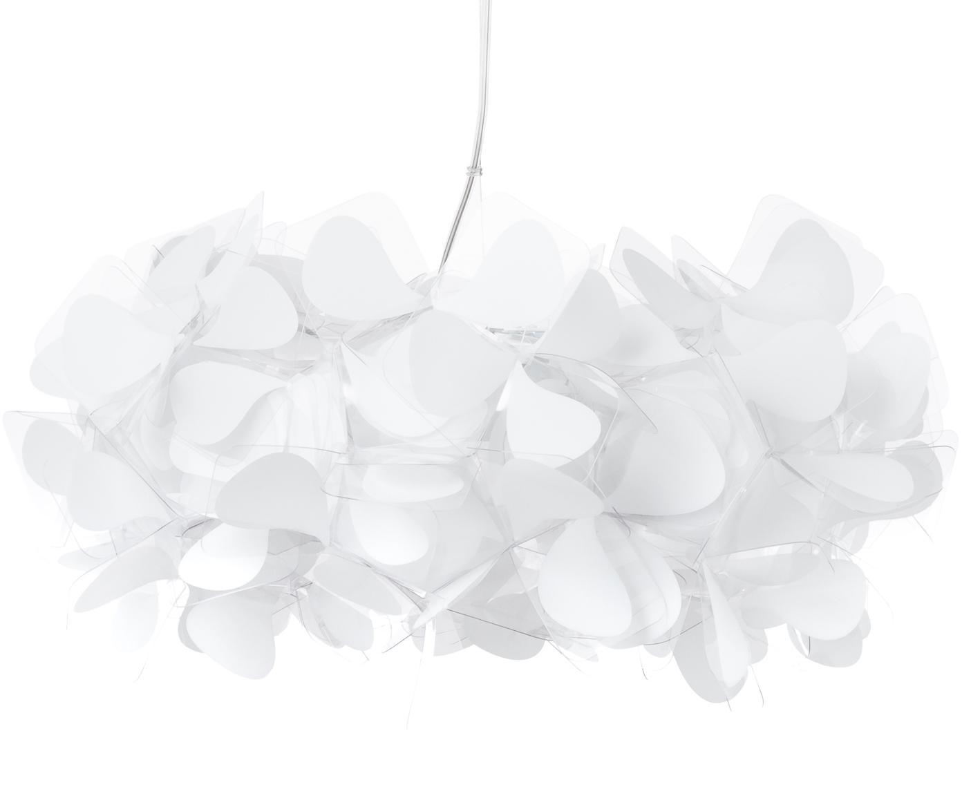 Design hanglamp Clizia Mama Non Mama, Lampenkap: technopolymeer Opalflex®,, Baldakijn: gecoat metaal, Transparant, wit, Ø 53 x H 25 cm