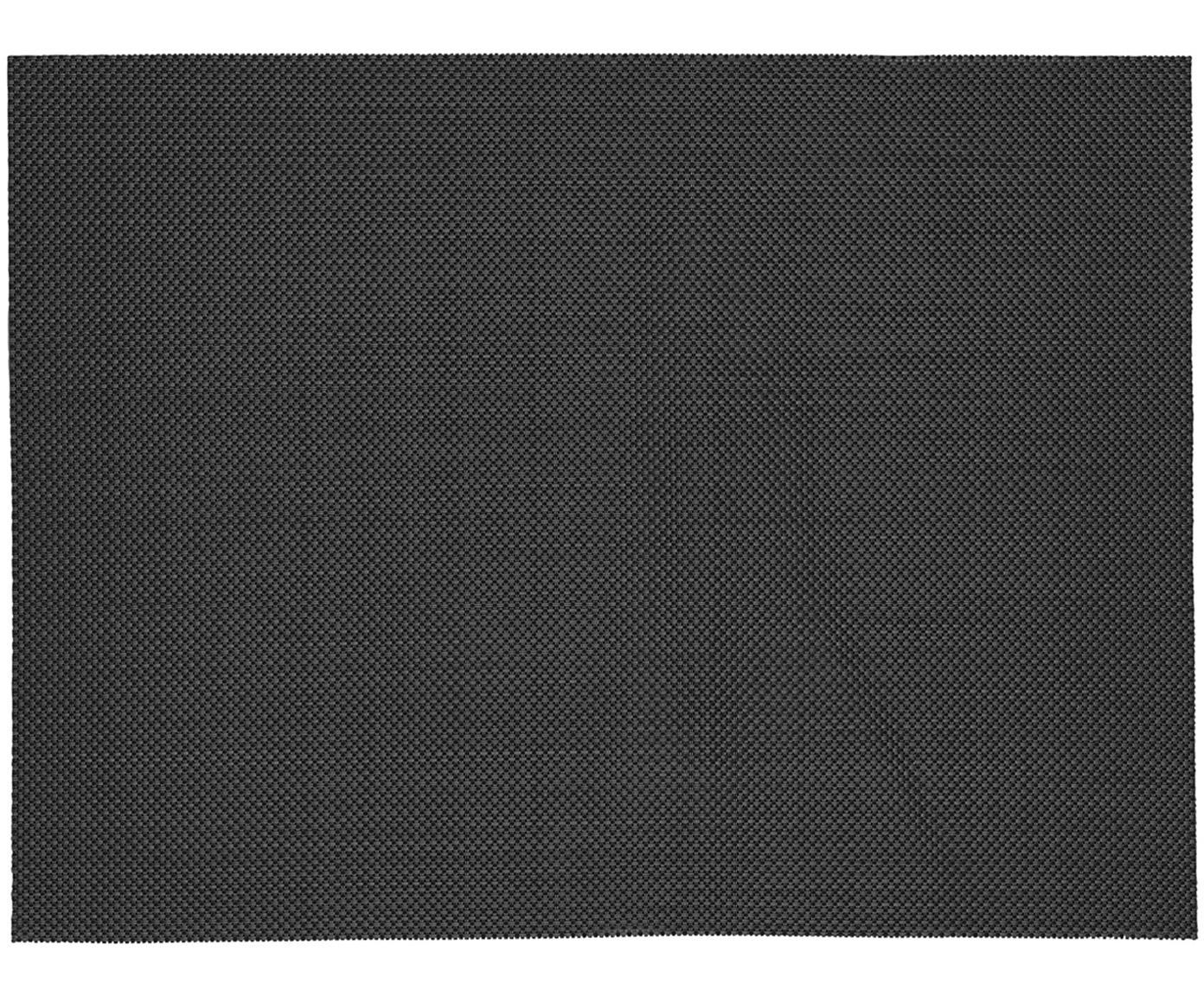 Placemats Mabra, 2 stuks, Kunststof (PVC), Zwart, 30 x 40 cm