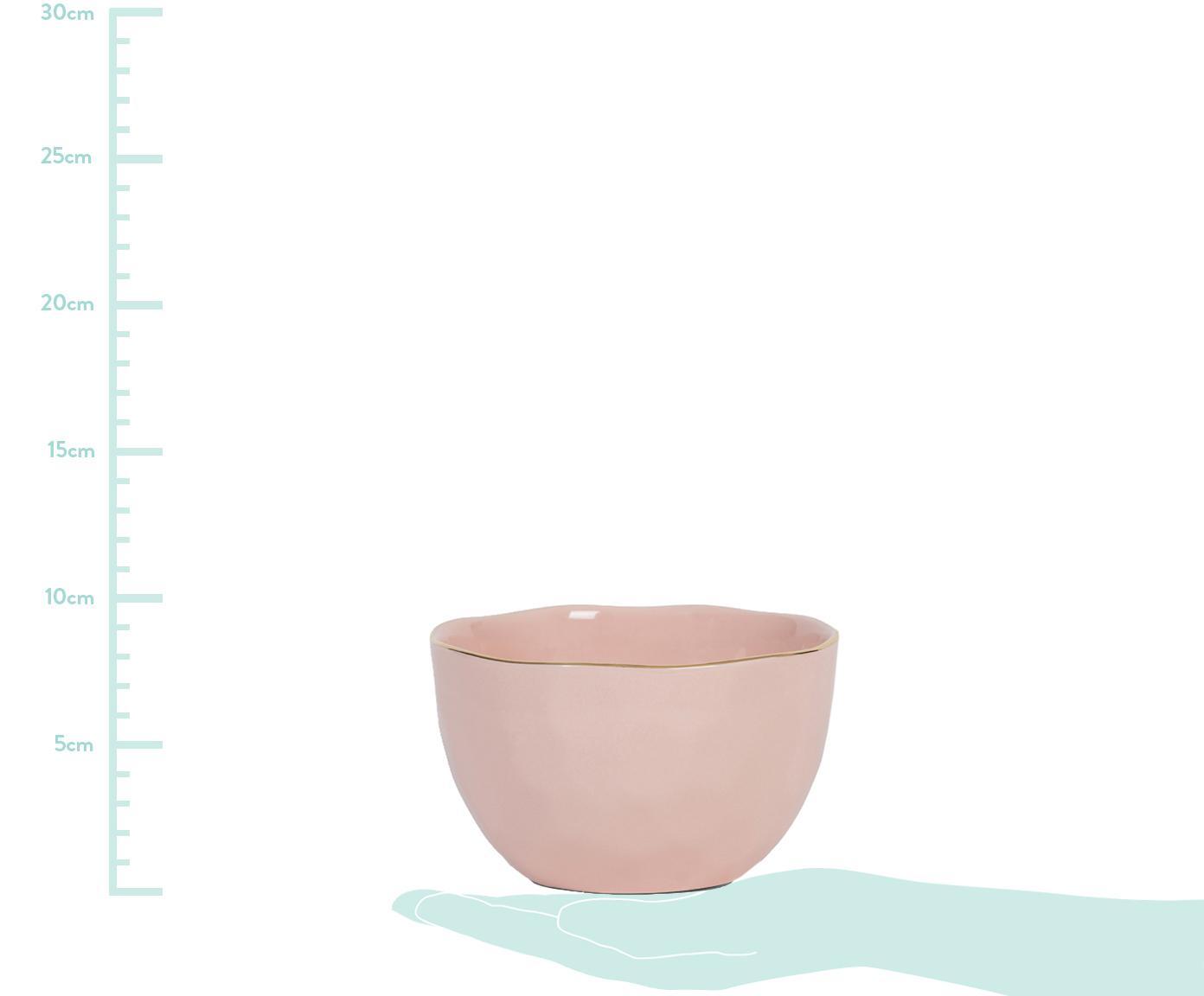 Schaal Good Morning, Porselein, Roze, goudkleurig, Ø 14 cm
