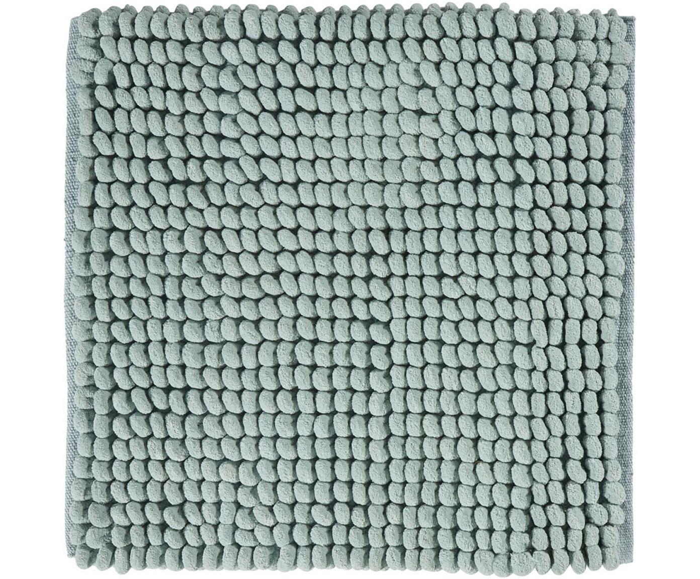 Tappeto bagno morbido Luka, 67% poliestere, 33% cotone, Verde chiaro, Larg. 60 x Lung. 60 cm