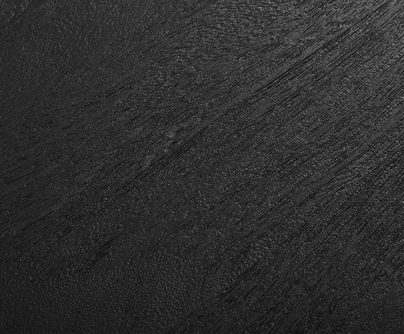 Eettafel Luca met massief houten tafelblad, Tafelblad: geborsteld en gelakt mass, Frame: gepoedercoat metaal, Tafelblad: zwart gelakt mangohout. Frame: mat zwart, B 240 x D 100 cm
