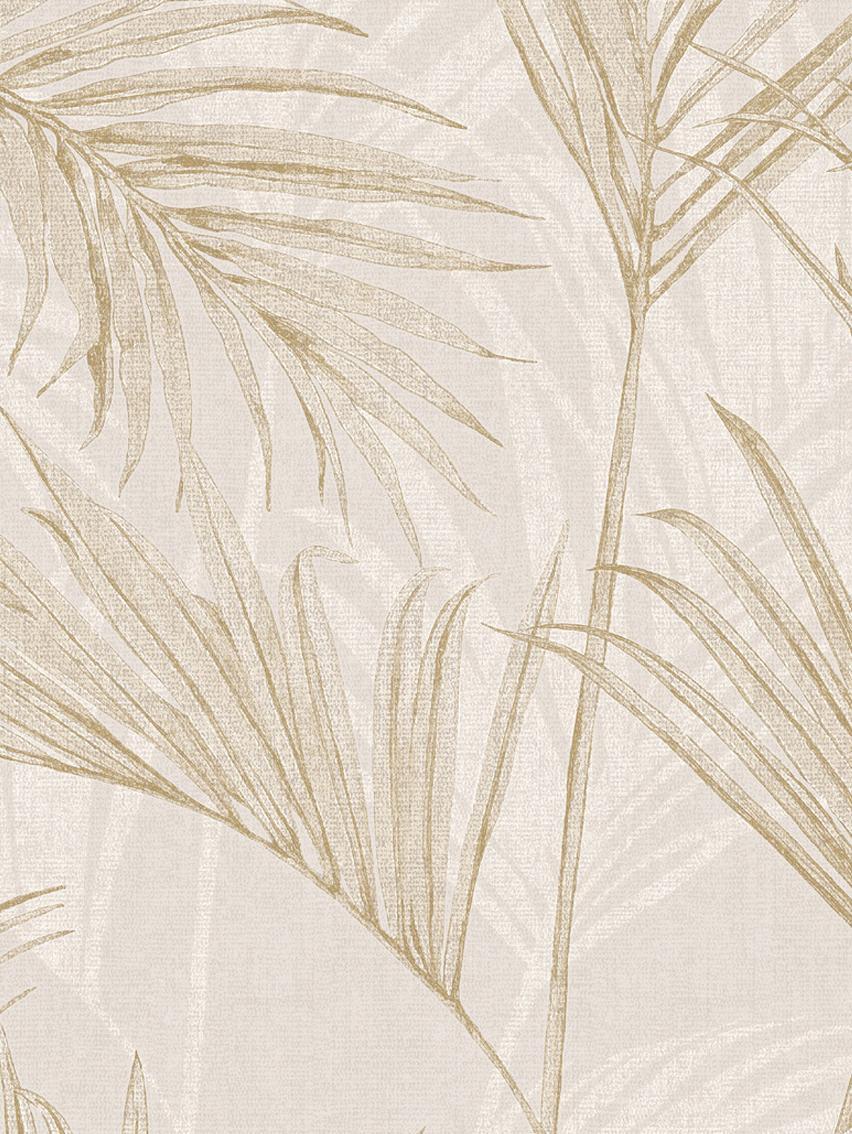 Tapete Palm Springs, Beschichtung: Vinyl, Beige, Braun, 53 x 1005 cm