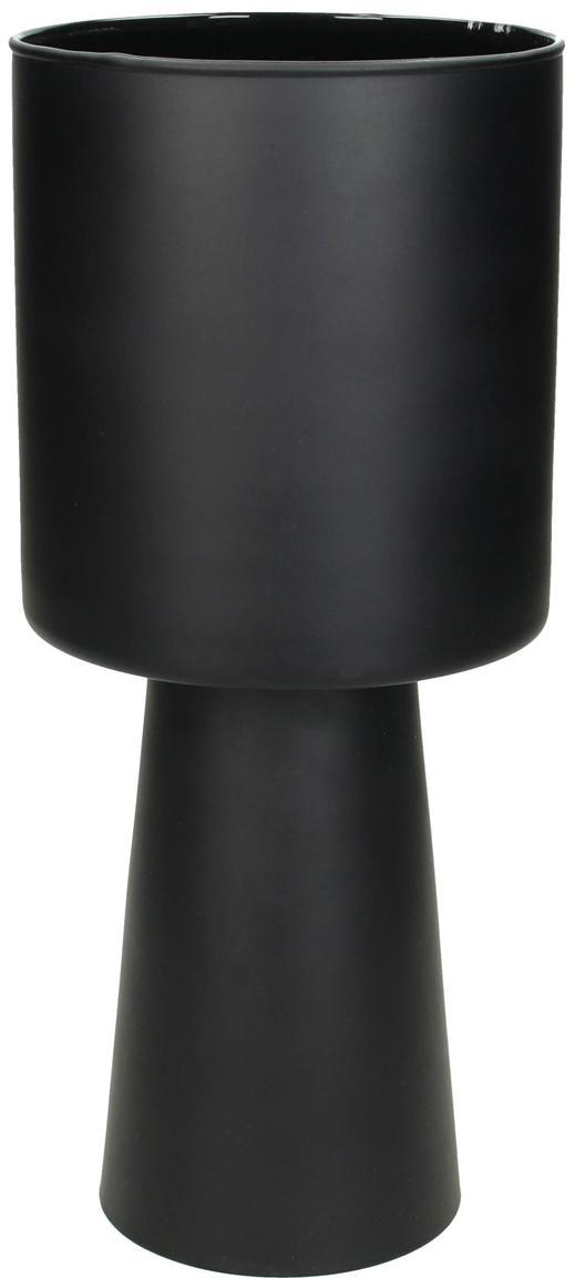 Kleiner Übertopf Glavus, Glas, Schwarz, Ø 12 x H 28 cm