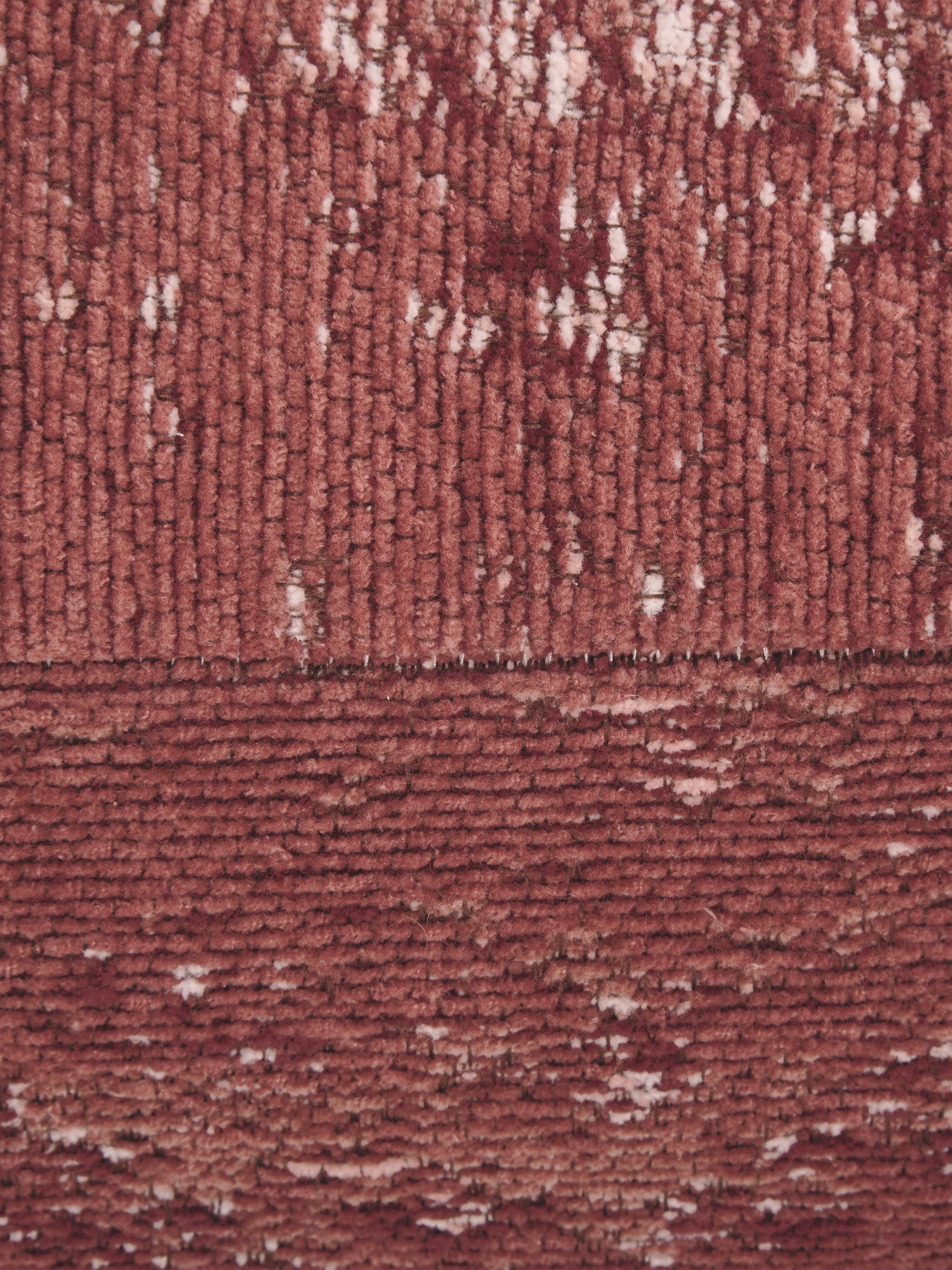 Vintage-Bodenkissen Rebel, Bezug: 95% Baumwolle, 5% Polyest, Rostrot, Creme, Rot, 70 x 20 cm