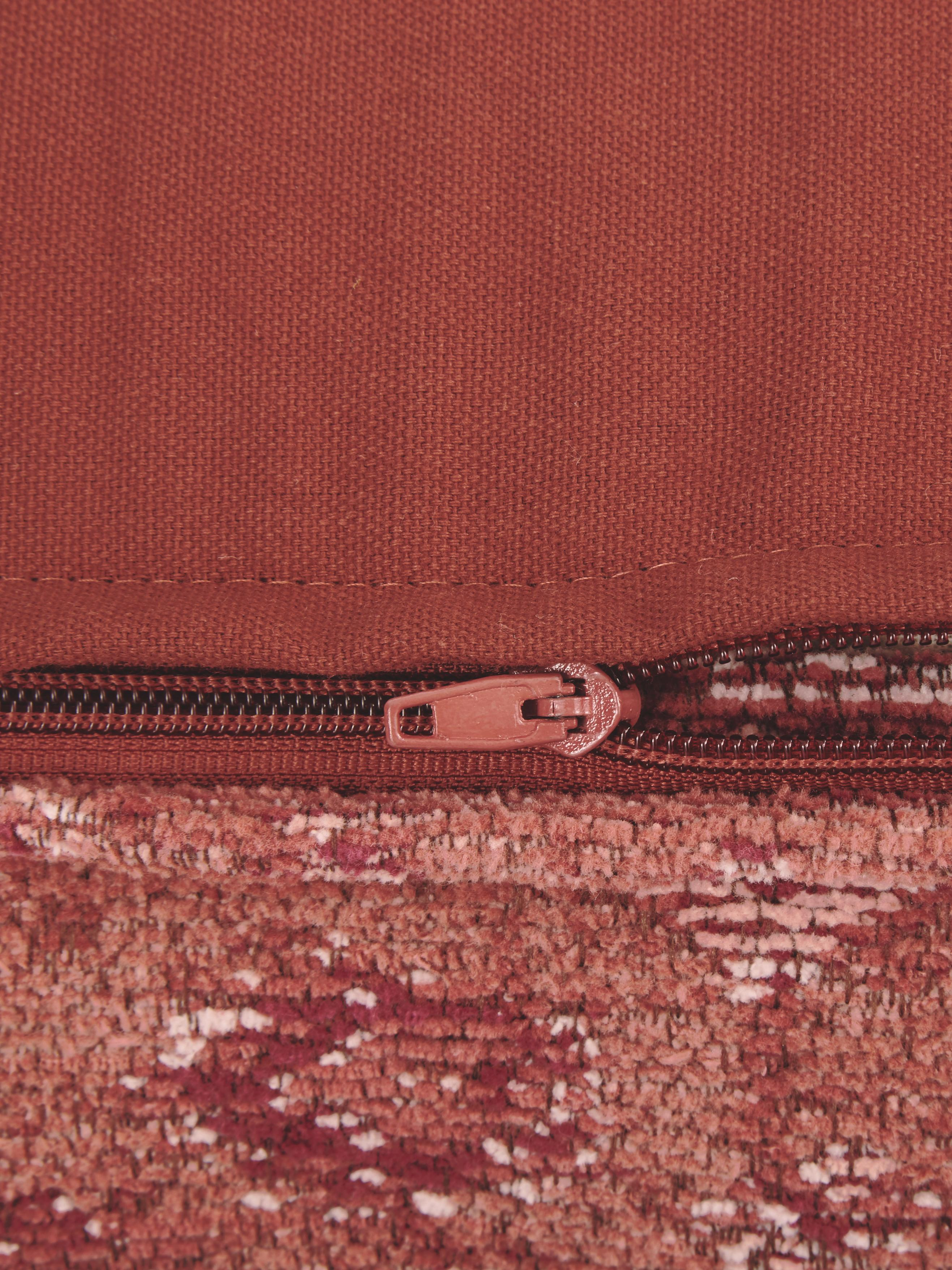 Coussin de sol vintage Rebel, Rouille, crème, rouge