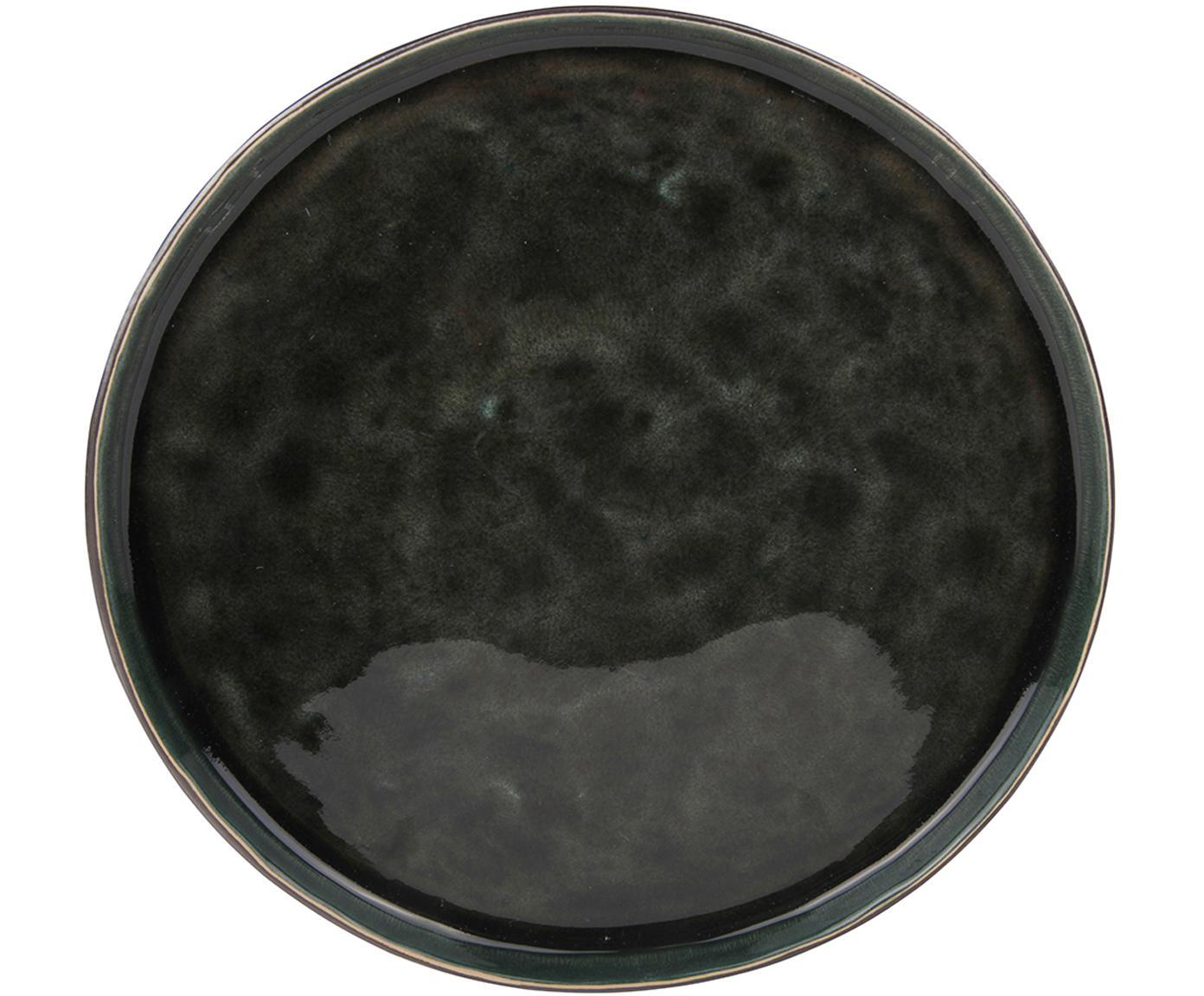 Piatto da colazione Lagune 6 pz, Ceramica, Marrone grigiastro, nero verde, Ø 22 cm