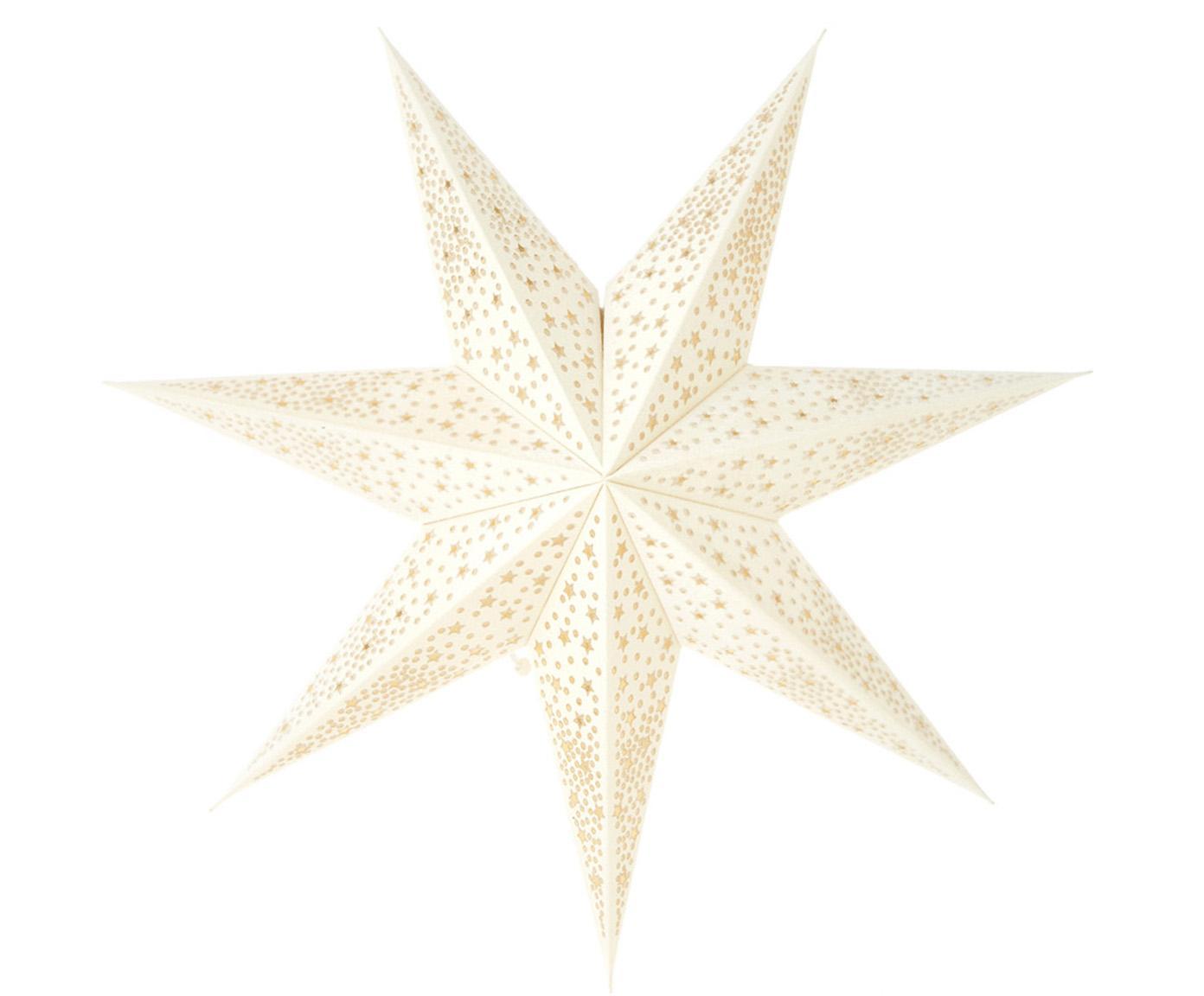 Kerstster Orby, Papier, Wit, Ø 45 cm