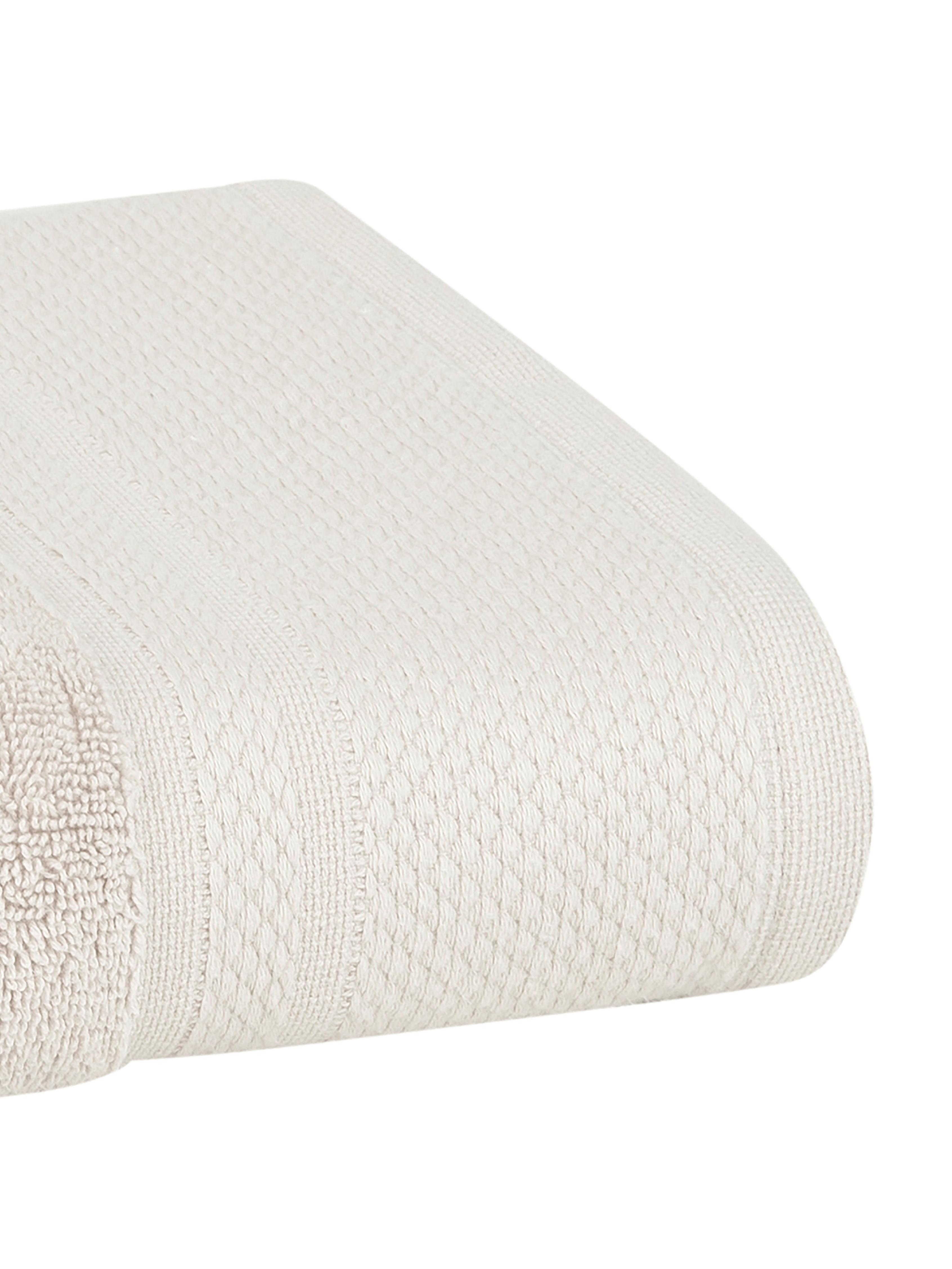 Handtuch-Set Premium mit klassischer Zierbordüre, 3-tlg., Beige, Sondergrößen
