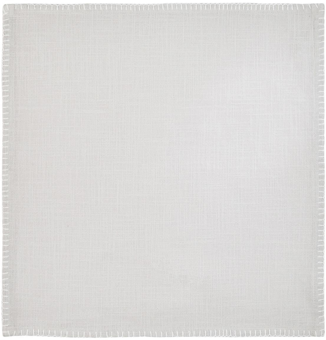 Baumwoll-Servietten Finca, 2 Stück, Baumwolle, Grau, 42 x 42 cm