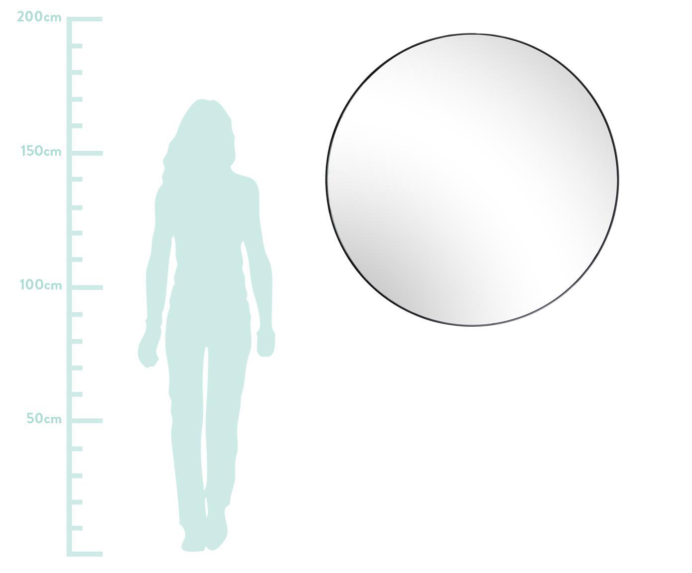 Okrągłe lustro ścienne Complete, Czarny, Ø 100 cm