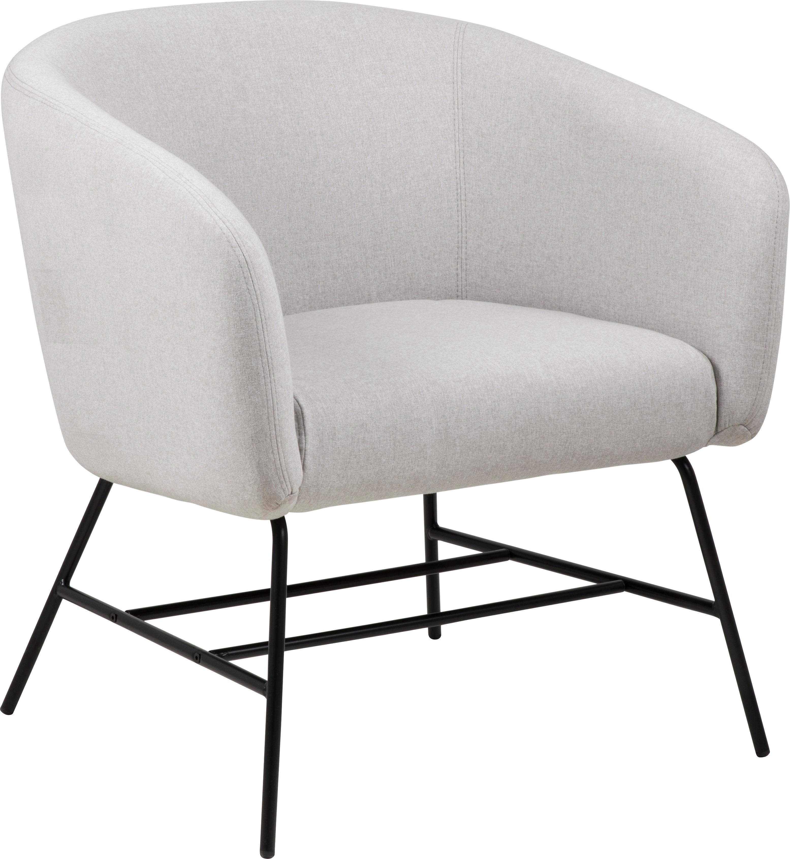 Fauteuil cocktail moderne gris clair Ramsey