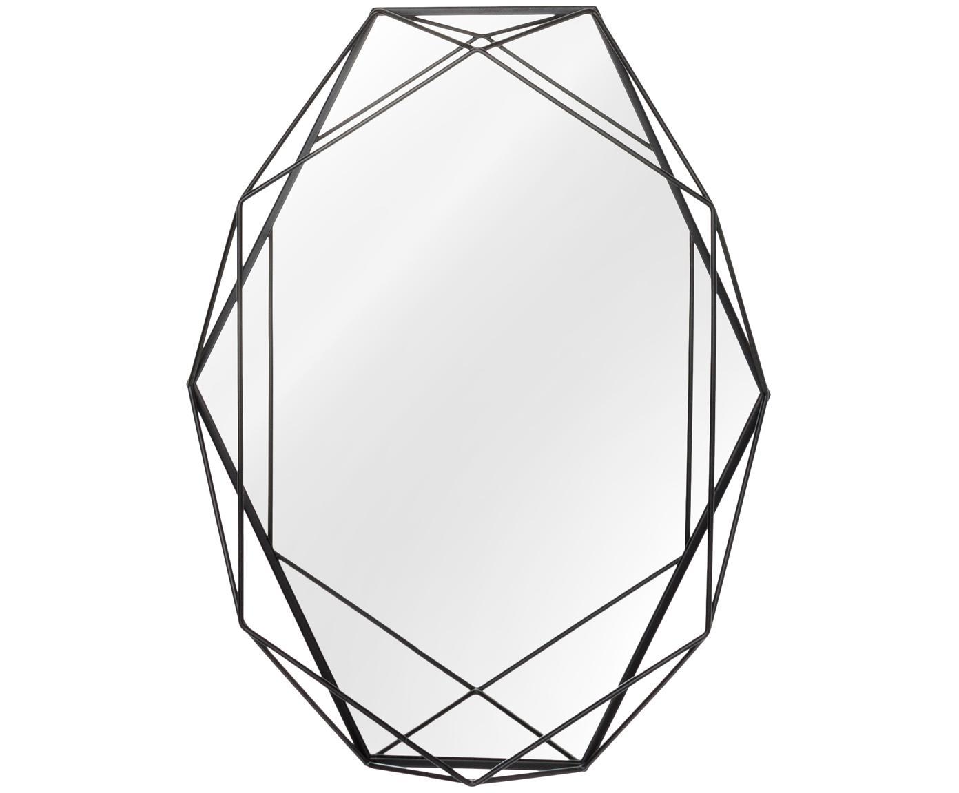 Espejo de pared ovalado Prisma, Espejo: cristal, Negro, An 43 x Al 57 cm