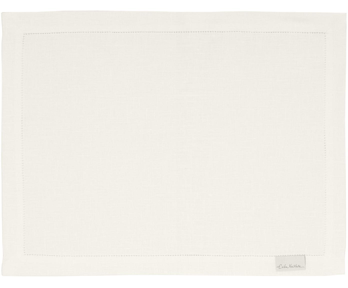 Tovaglietta americana in lino Alanta 6 pz, Bianco crema, Larg. 38 x Lung. 50 cm