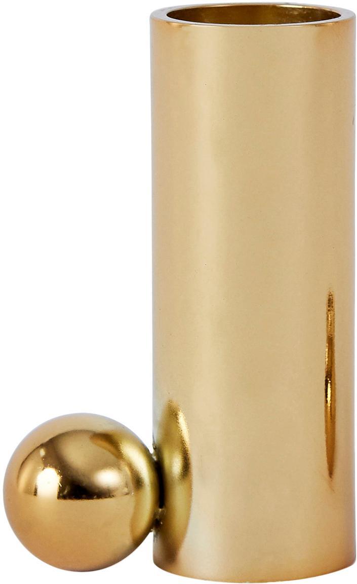 Kerzenhalter Palloa, Metall, beschichtet, Goldfarben, 5 x 7 cm