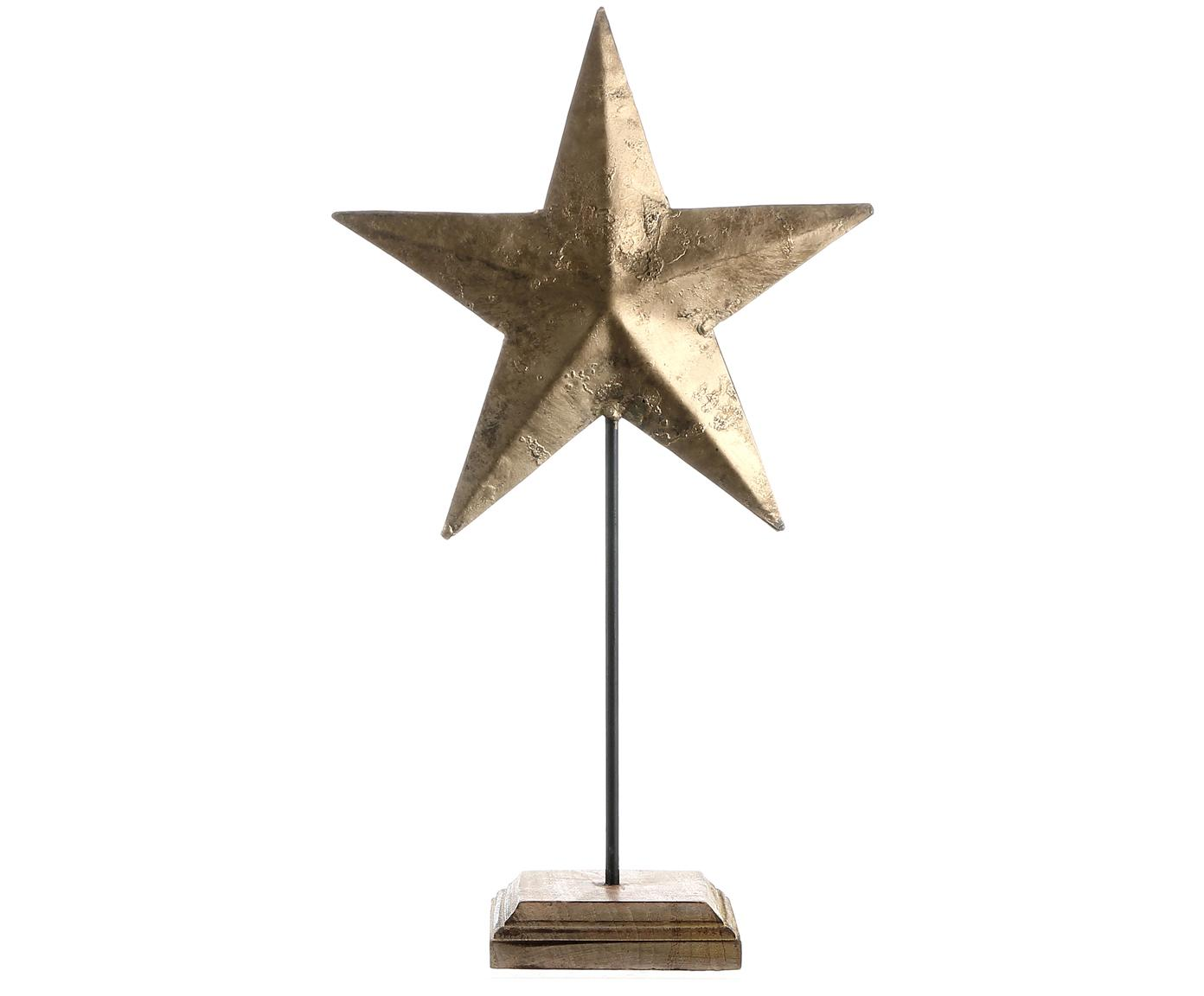 Pieza decorativa Stella, Dorado, marrón, An 24 x Al 44 cm
