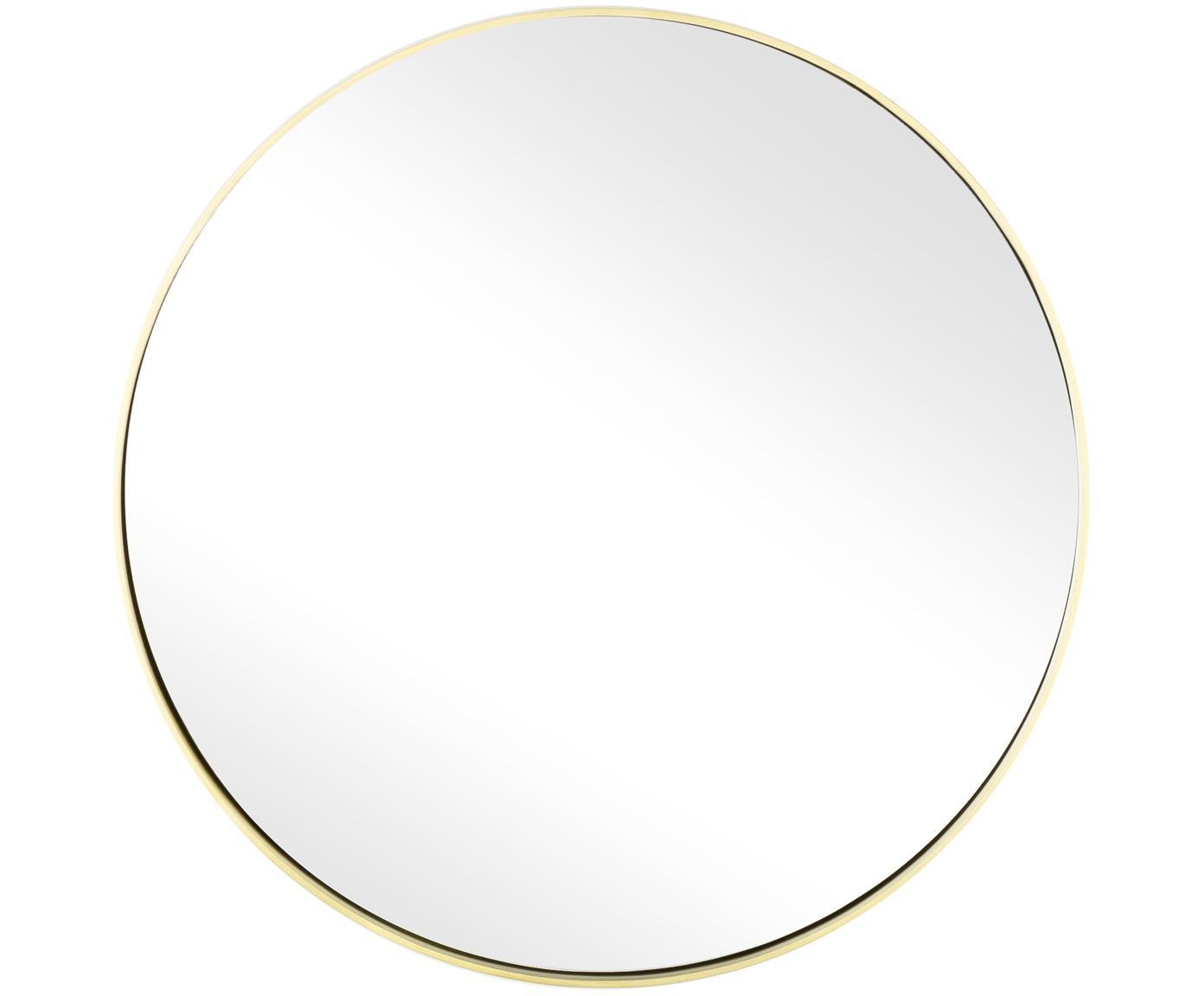 Okrągłe lustro ścienne Ada, Mosiądz, szczotkowany, Ø 40 cm