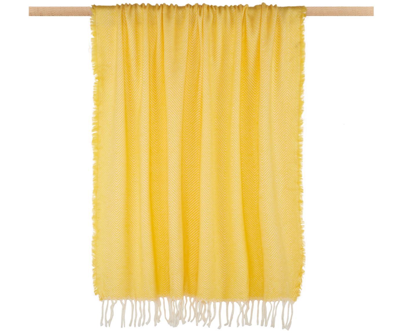 Pled Trudy, Akryl, Żółty, S 130 x D 150 cm