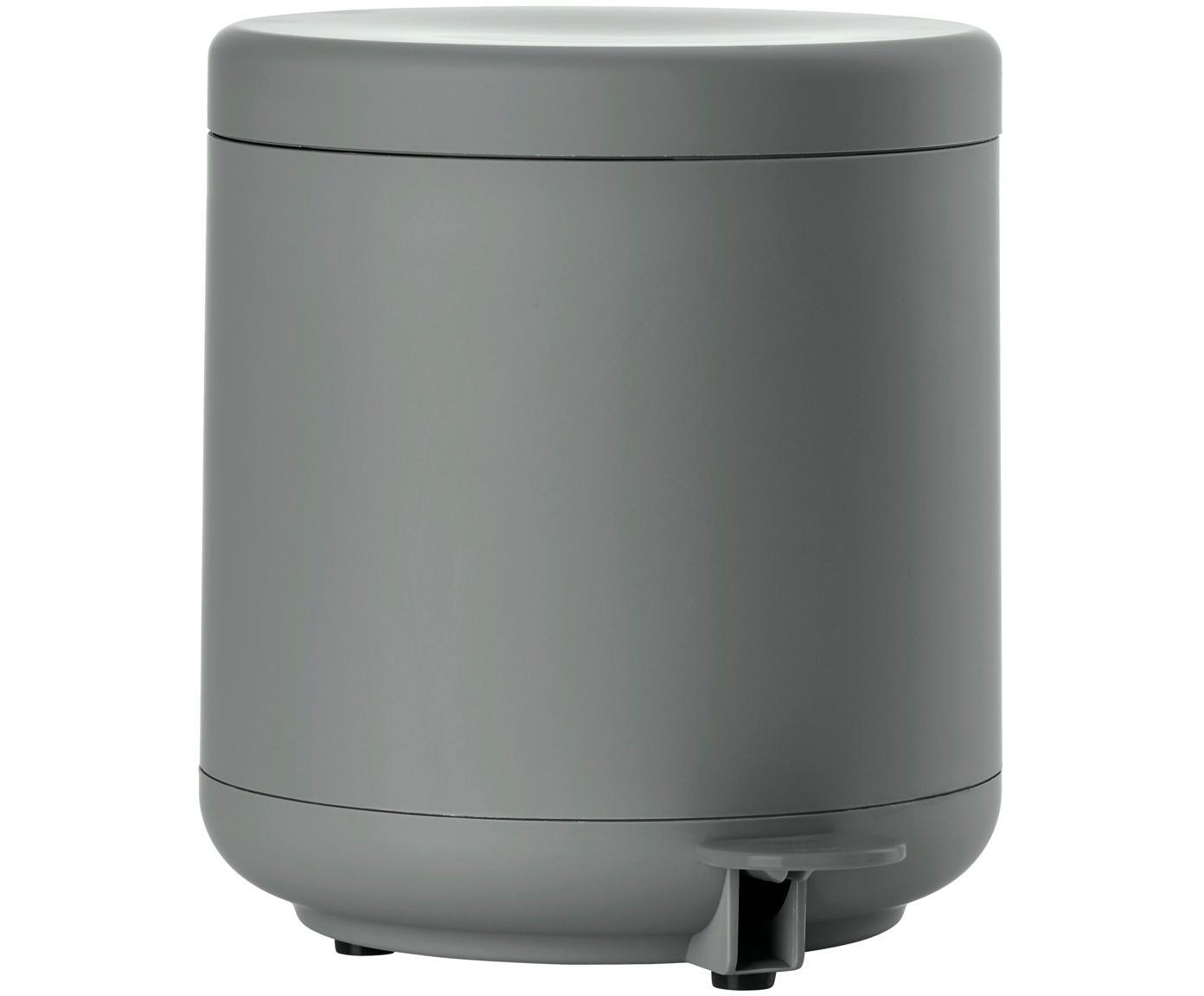 Afvalemmer Omega, Kunststof (ABS), Mat grijs, Ø 20 x H 22 cm