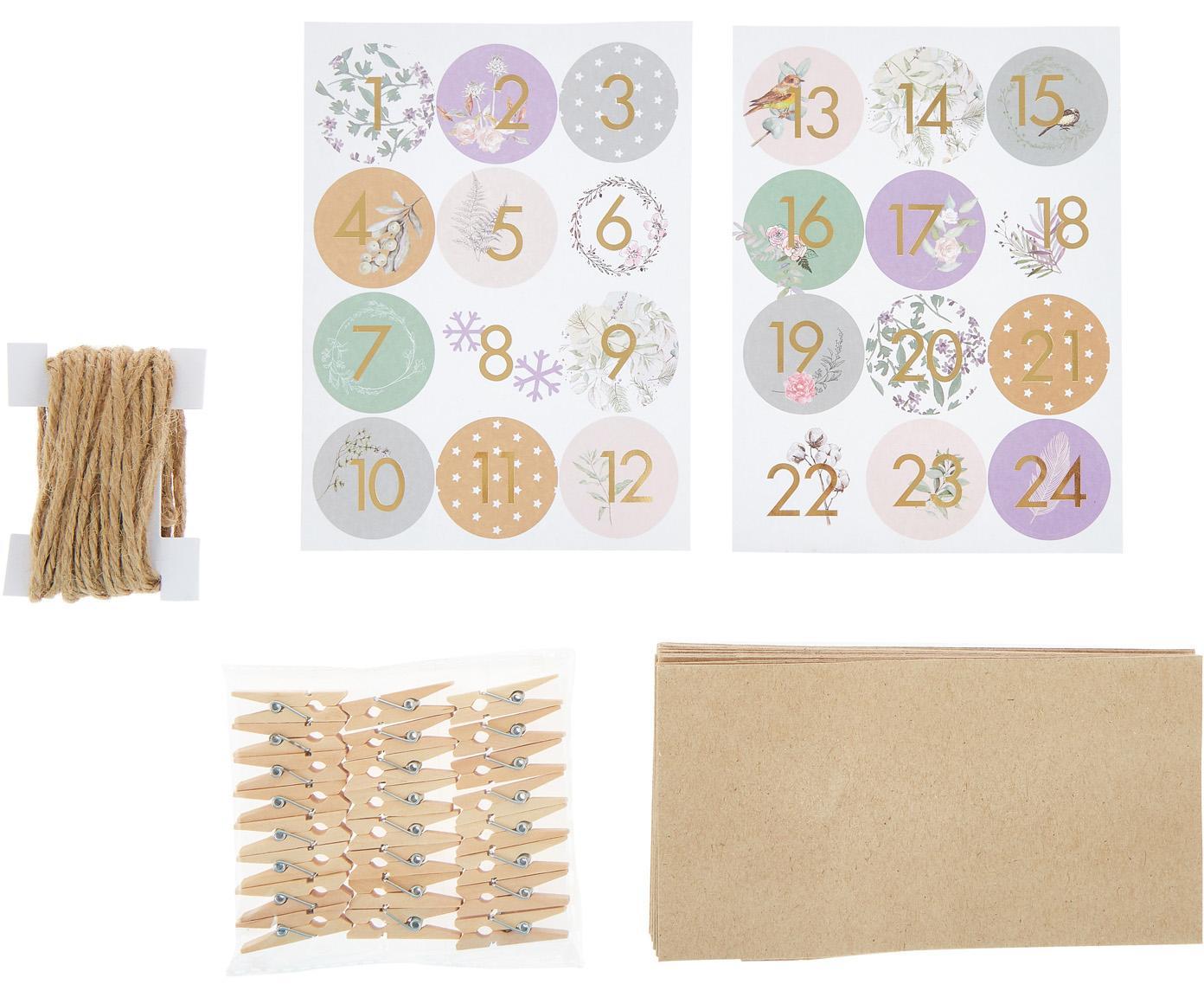 Kalendarz adwentowy Vivi, 73 elem., Wielobarwny, S 22 x W 23 cm