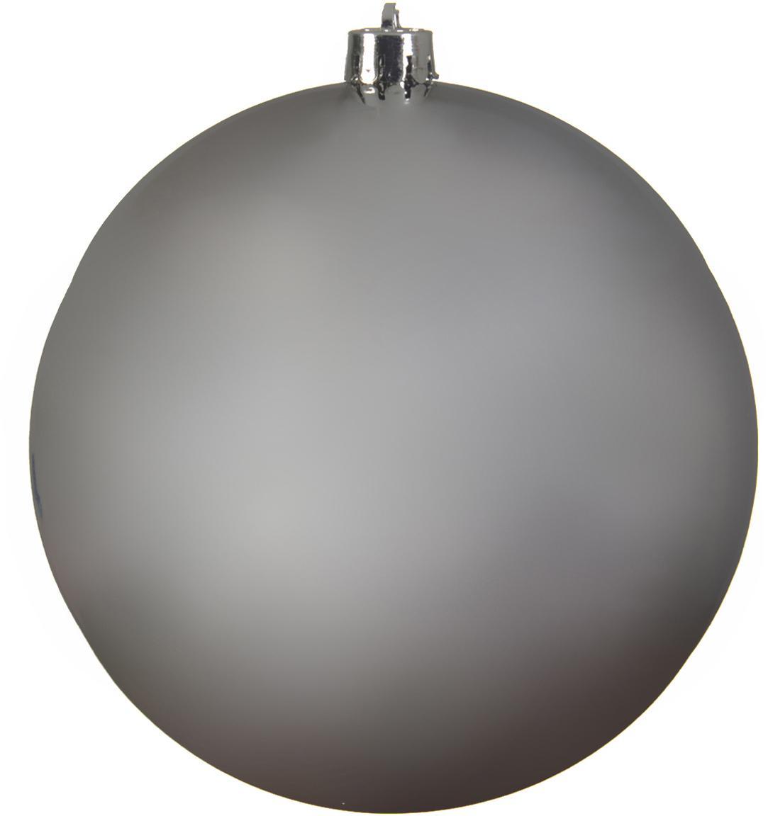 XL Weihnachtskugel Minstix Ø20cm, Kunststoff, Silberfarben, Ø 20 cm