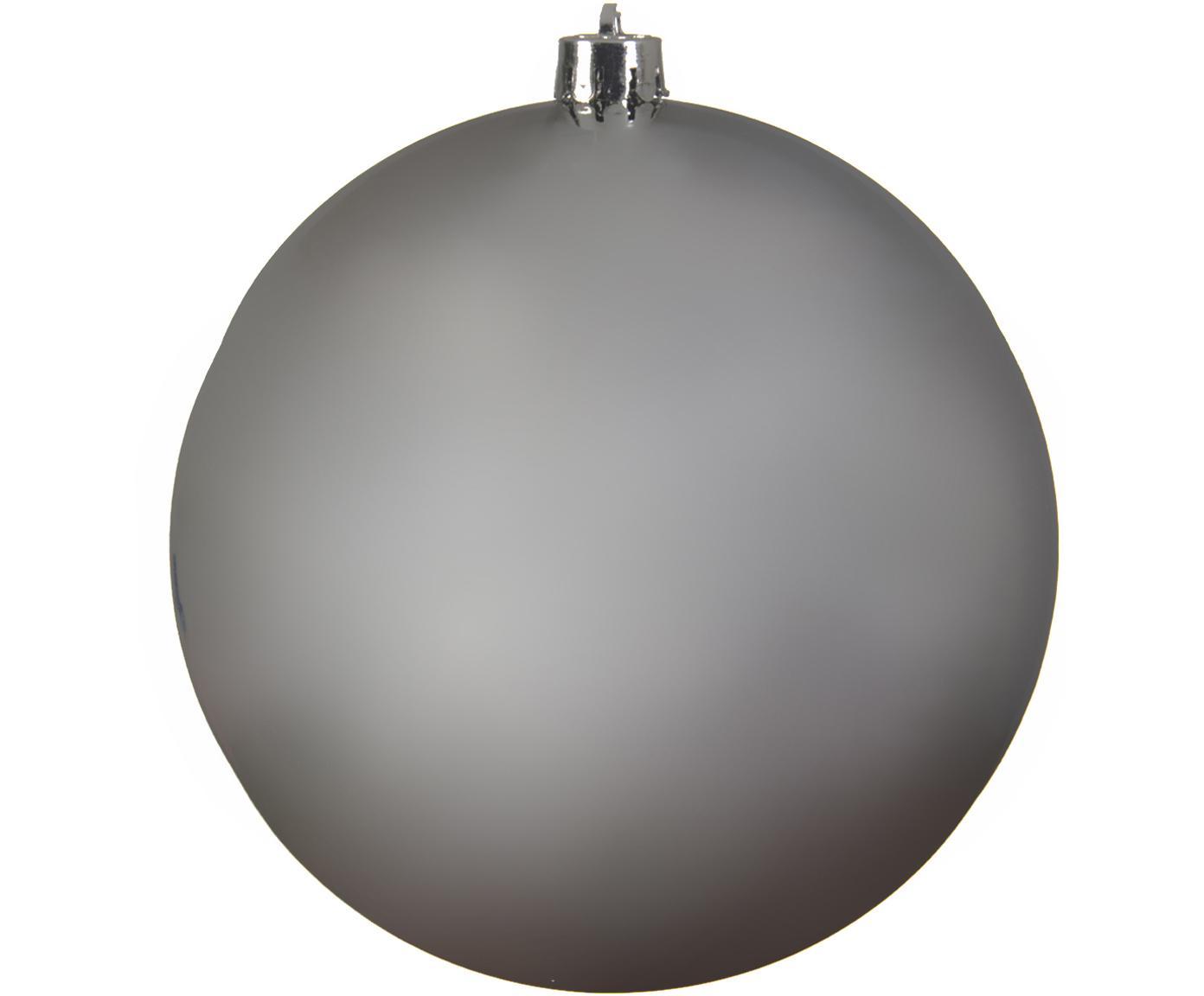 Kerstbal Minstix, Kunststof, Zilverkleurig, Ø 20 cm