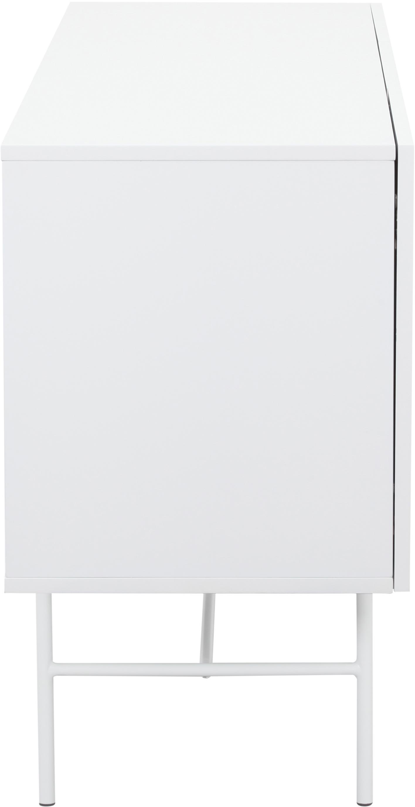 Moderní skříňka Anders, Konstrukce: bílá Nohy: matná bílá