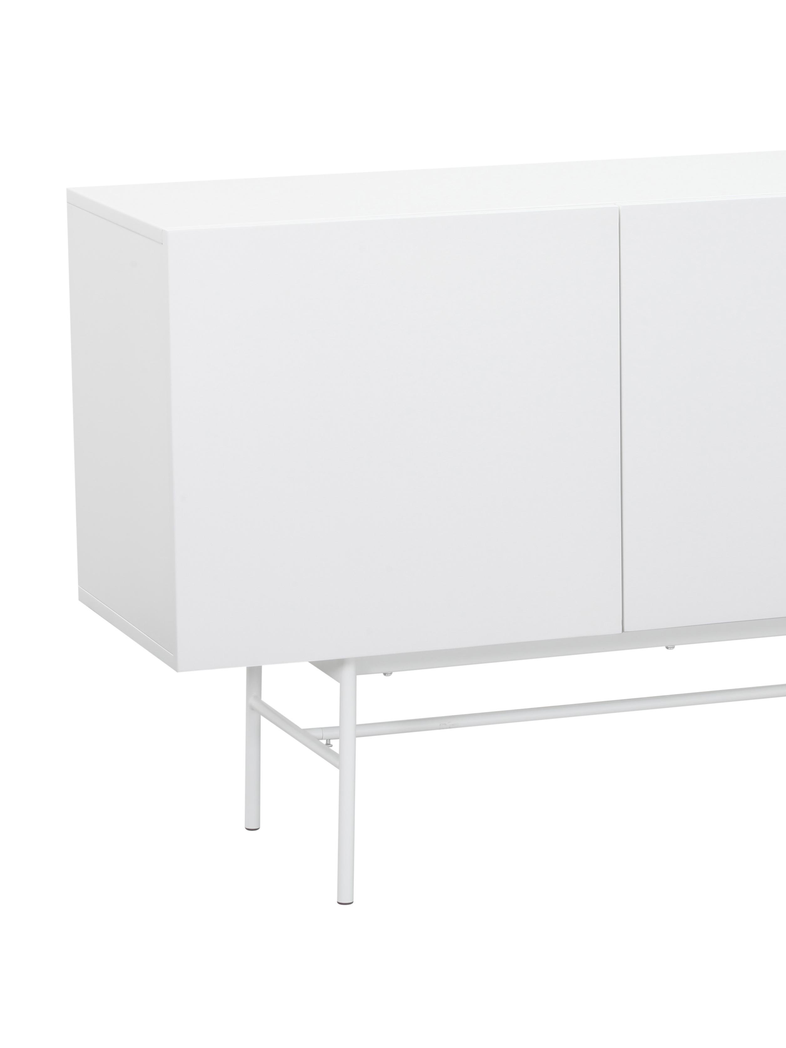 Modernes Sideboard Anders, Korpus: Mitteldichte Holzfaserpla, Korpus: WeissFüsse: Weiss, matt, 200 x 80 cm