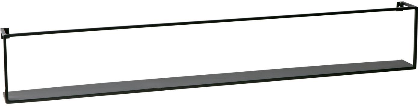 Metalen wandrek Meert in zwart, Gecoat metaal, Zwart, 100 x 16 cm