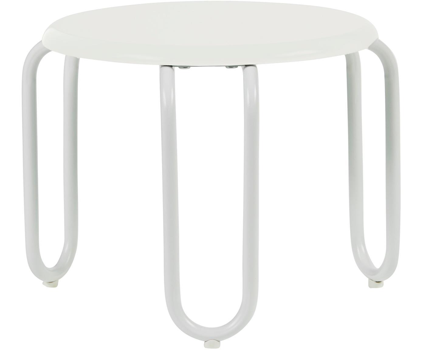 Hocker Linus, Sitzfläche: Mitteldichte Holzfaserpla, Beine: Stahl, lackiert, Weiss, Ø 30 x H 25 cm
