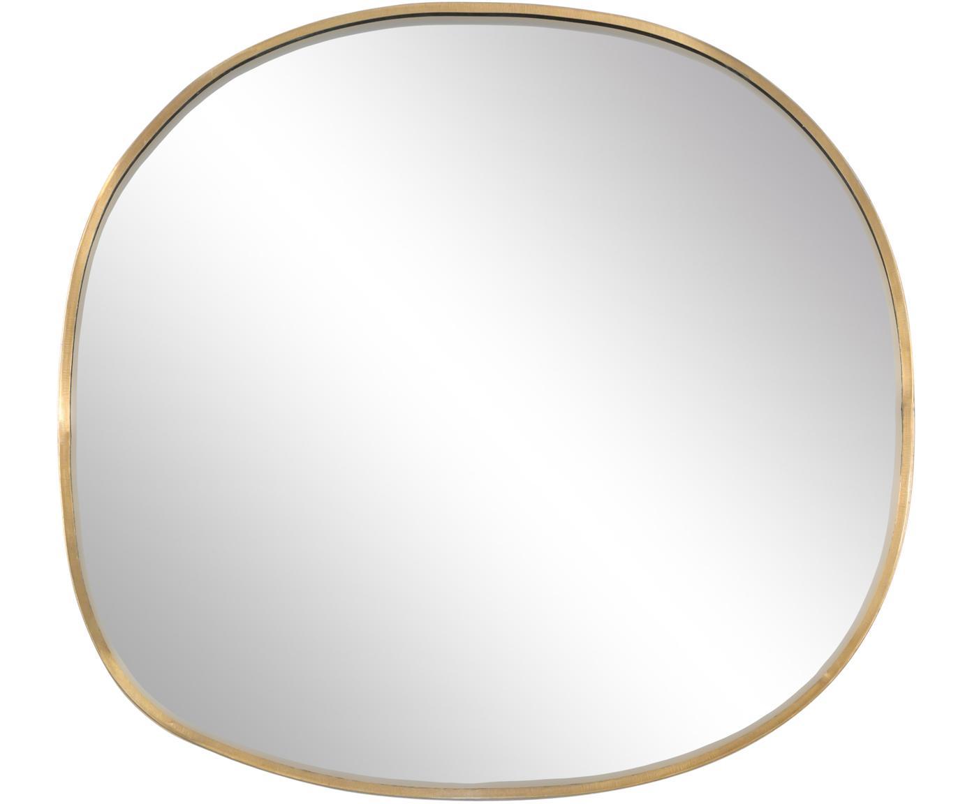 Specchio da parete Daily Pretty, Cornice: ottone, Superficie dello specchio: lastra di vetro, Ottone, Larg. 27 x Alt. 25 cm