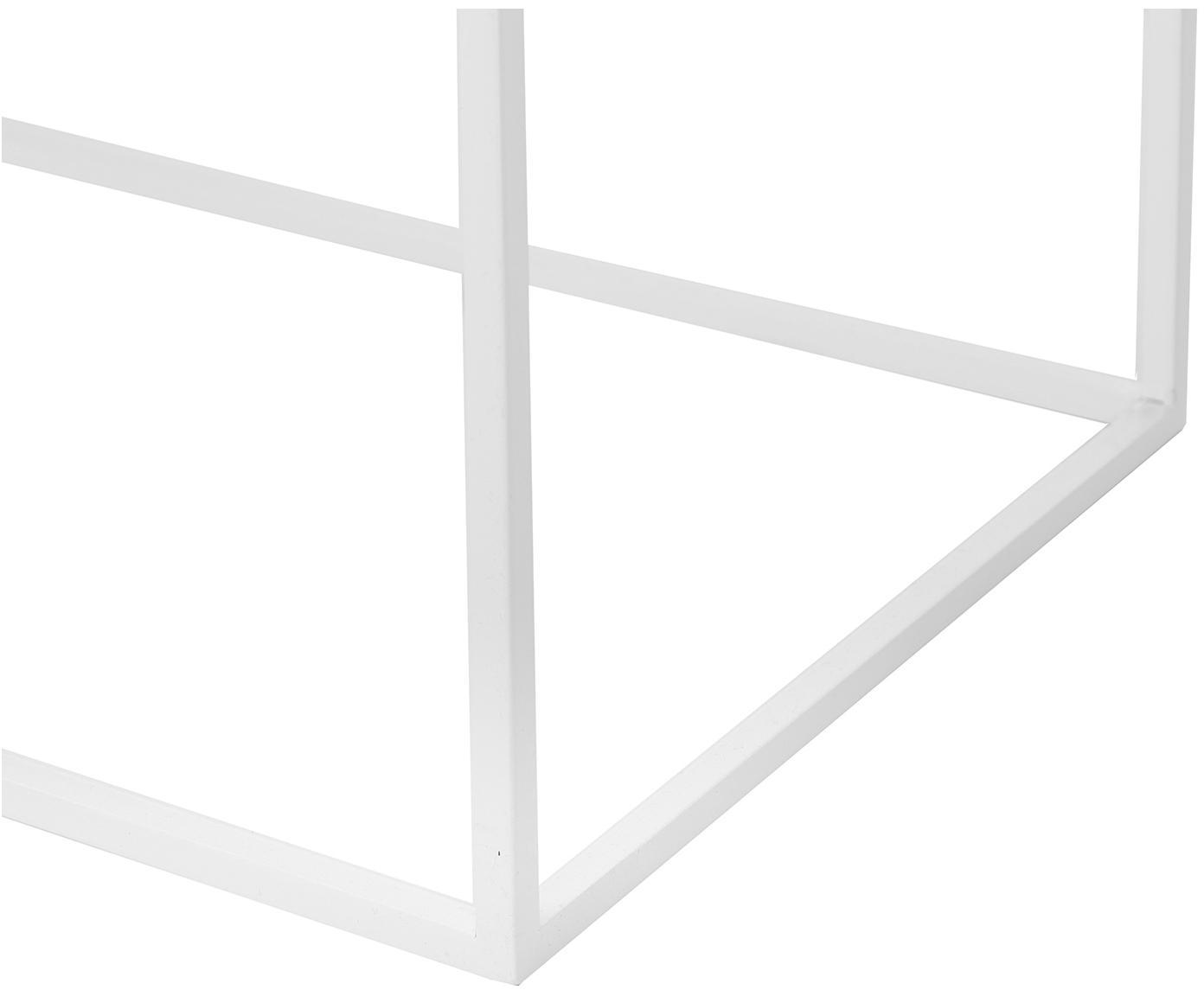 Console blanche en métal Tension, Blanc