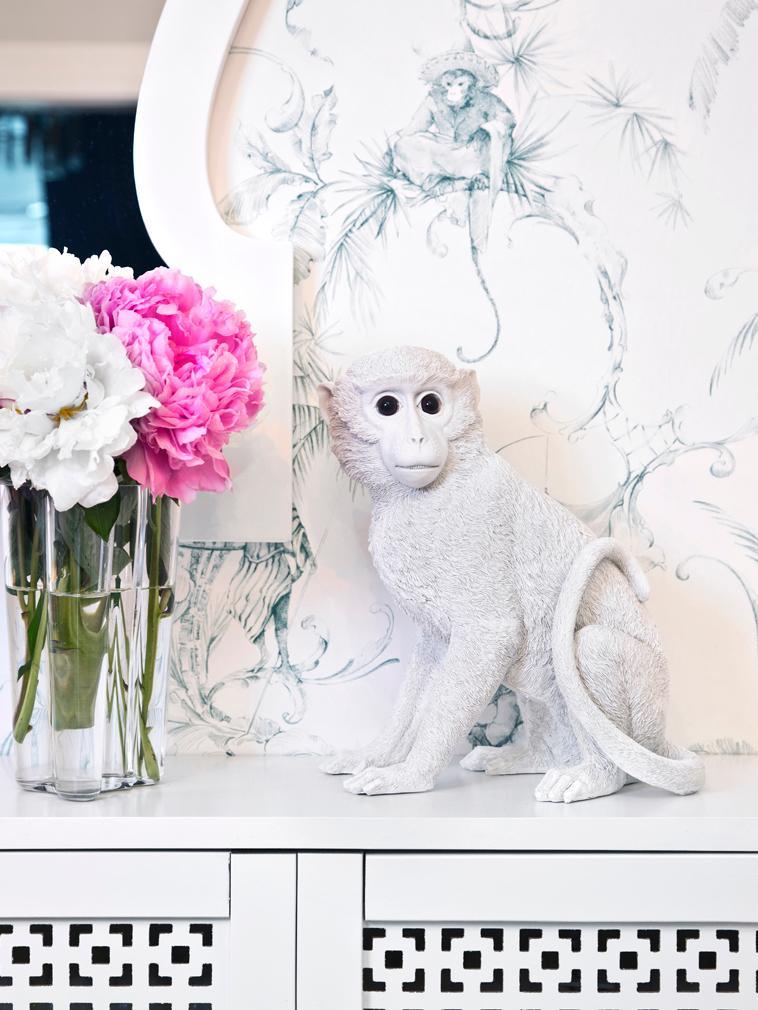 Hucha Monkey, Resina, Blanco, Al 30 x An 25 cm