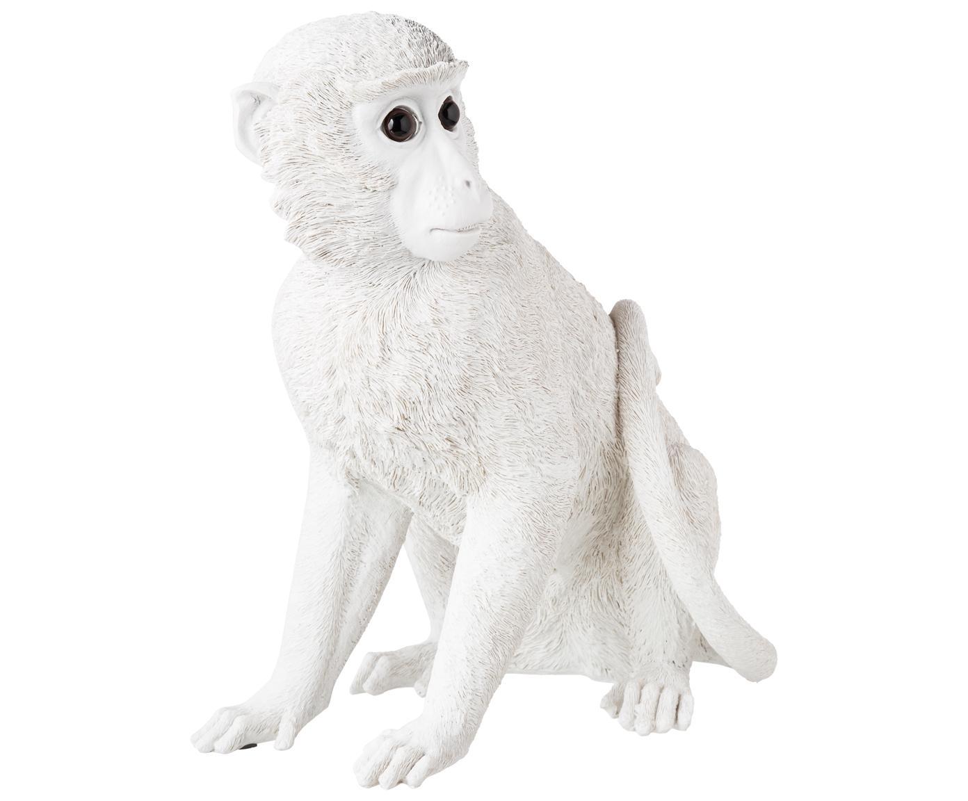 Skarbonka Monkey, Sztuczna żywica, Biały, W 30 x S 25 cm