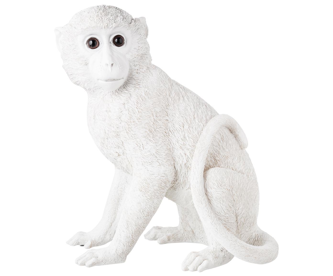 Spardose Monkey, Kunstharz, Weiß, 25 x 30 cm