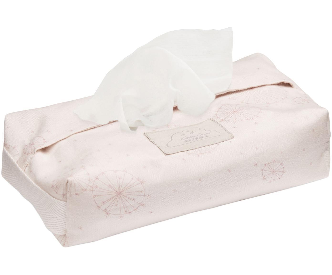 Porta salviettine in cotone organico Dandelion, Cotone organico, certificato GOTS, Rosa chiaro, rosa, Larg. 25 x Prof. 17 cm