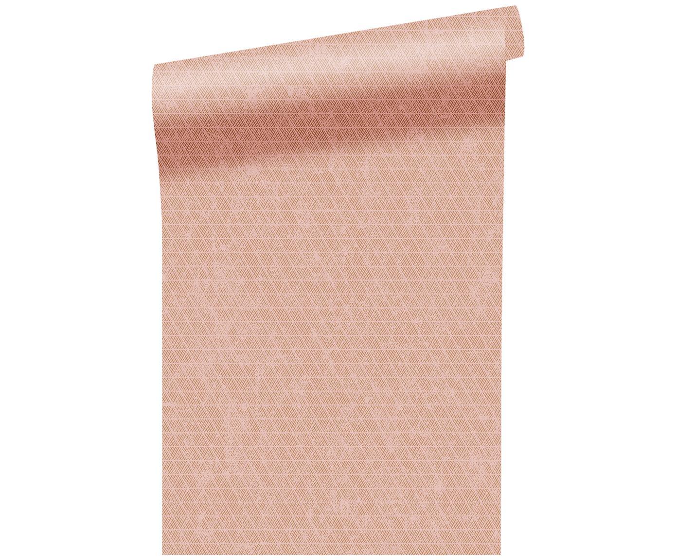 Carta da parati Luxury Triangle, Vello, Rosa dorato, bianco, P 52 x L 1005 cm