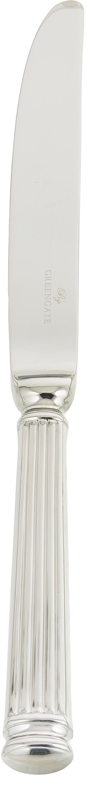 Posate argentate con struttura scanalata sul manico Elegance 4 pz, Acciaio inossidabile, rivestimento PVD, Acciaio inossidabile, Lung. 21 cm